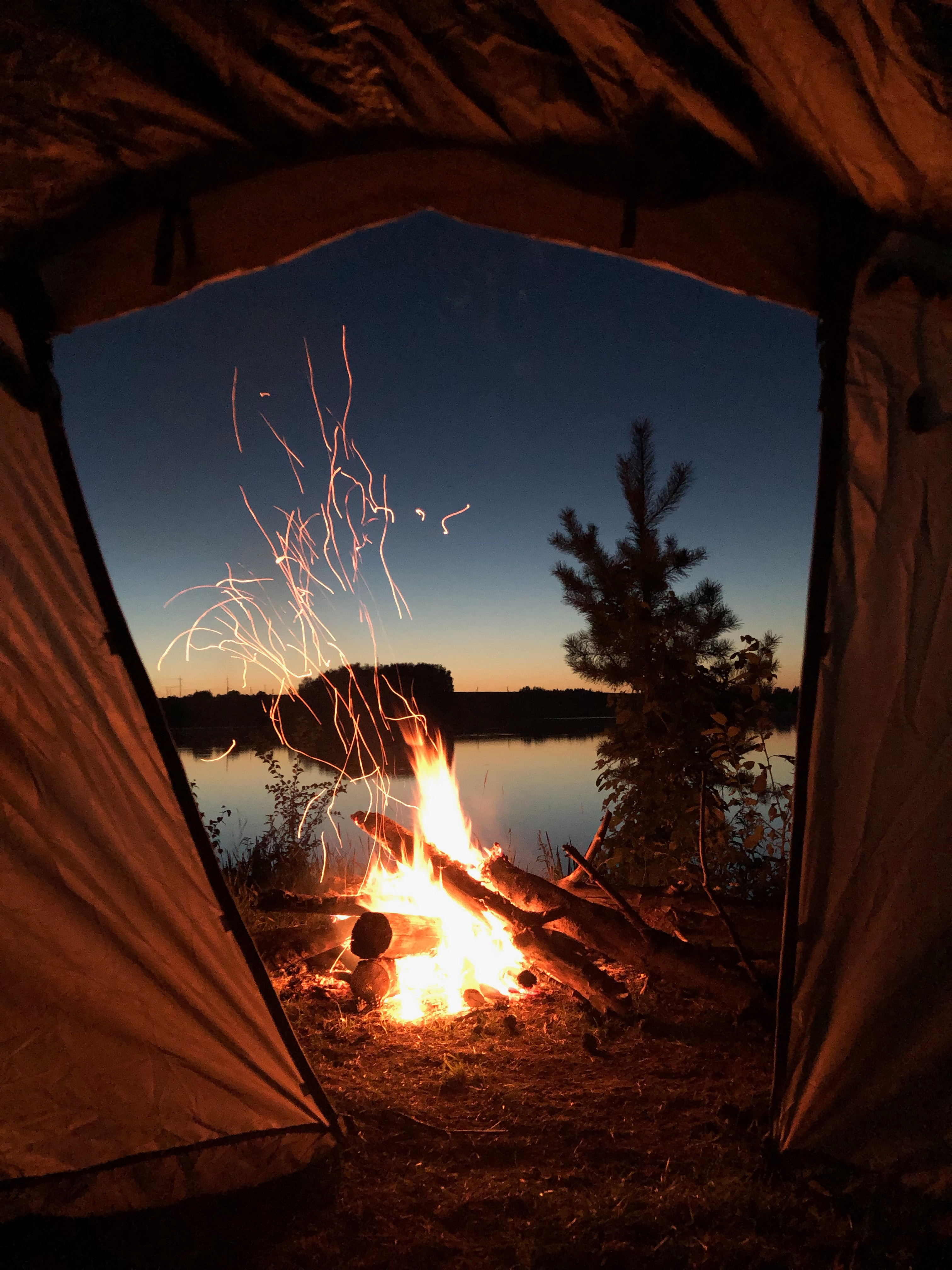 104203 Screensavers and Wallpapers Bonfire for phone. Download Nature, Bonfire, Night, Tent, Camping, Campsite pictures for free
