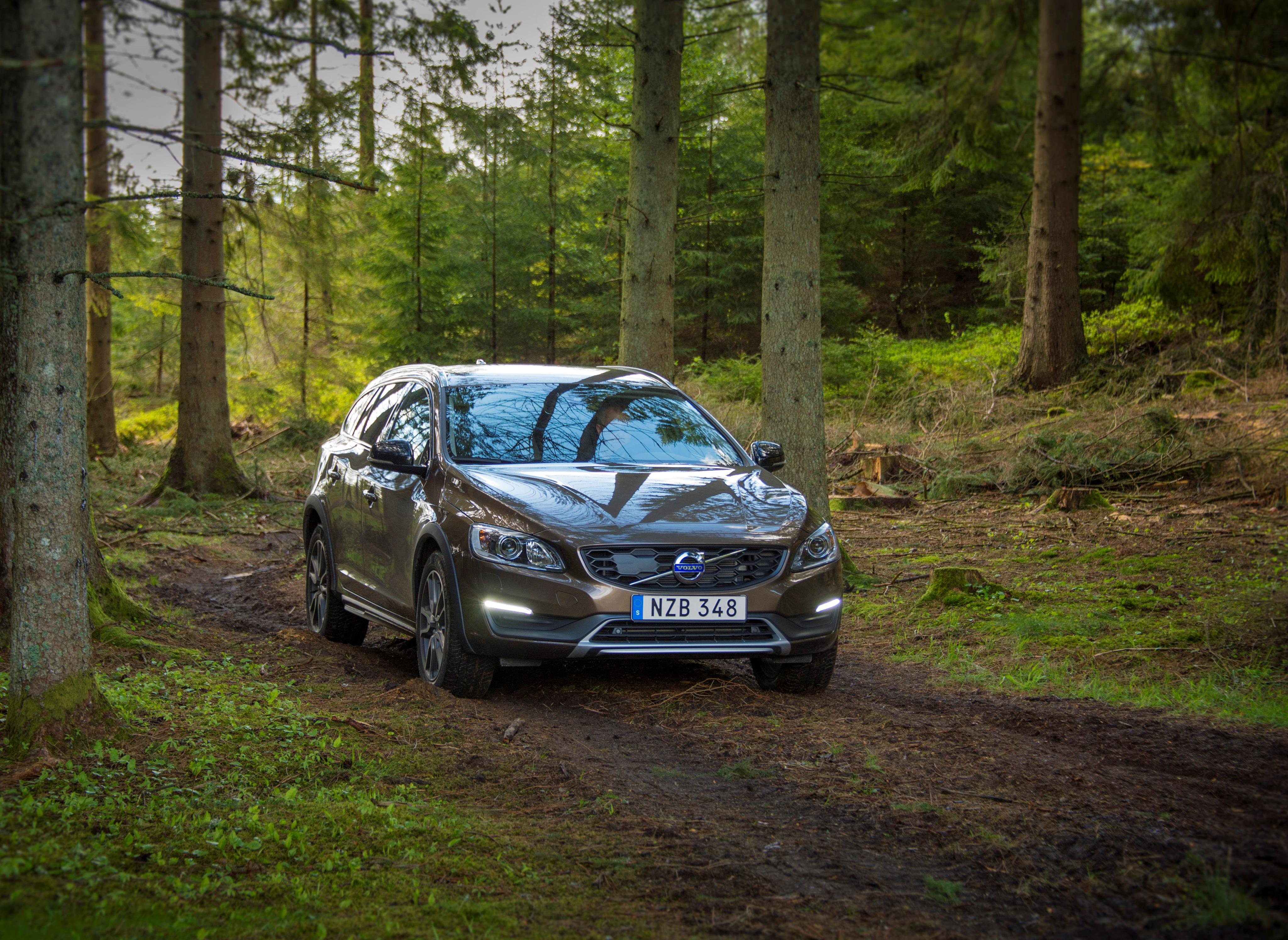 133131 скачать обои Вольво (Volvo), Тачки (Cars), Лес, Вид Спереди, V60 - заставки и картинки бесплатно