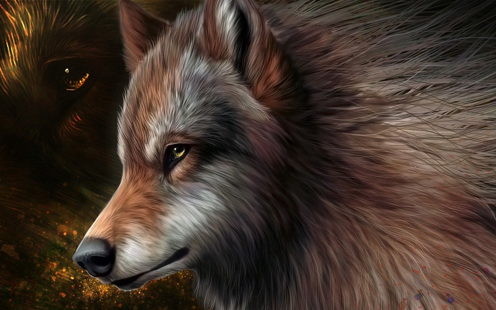 125546 Screensavers and Wallpapers Wool for phone. Download Art, Wolf, Graphics, Wool pictures for free