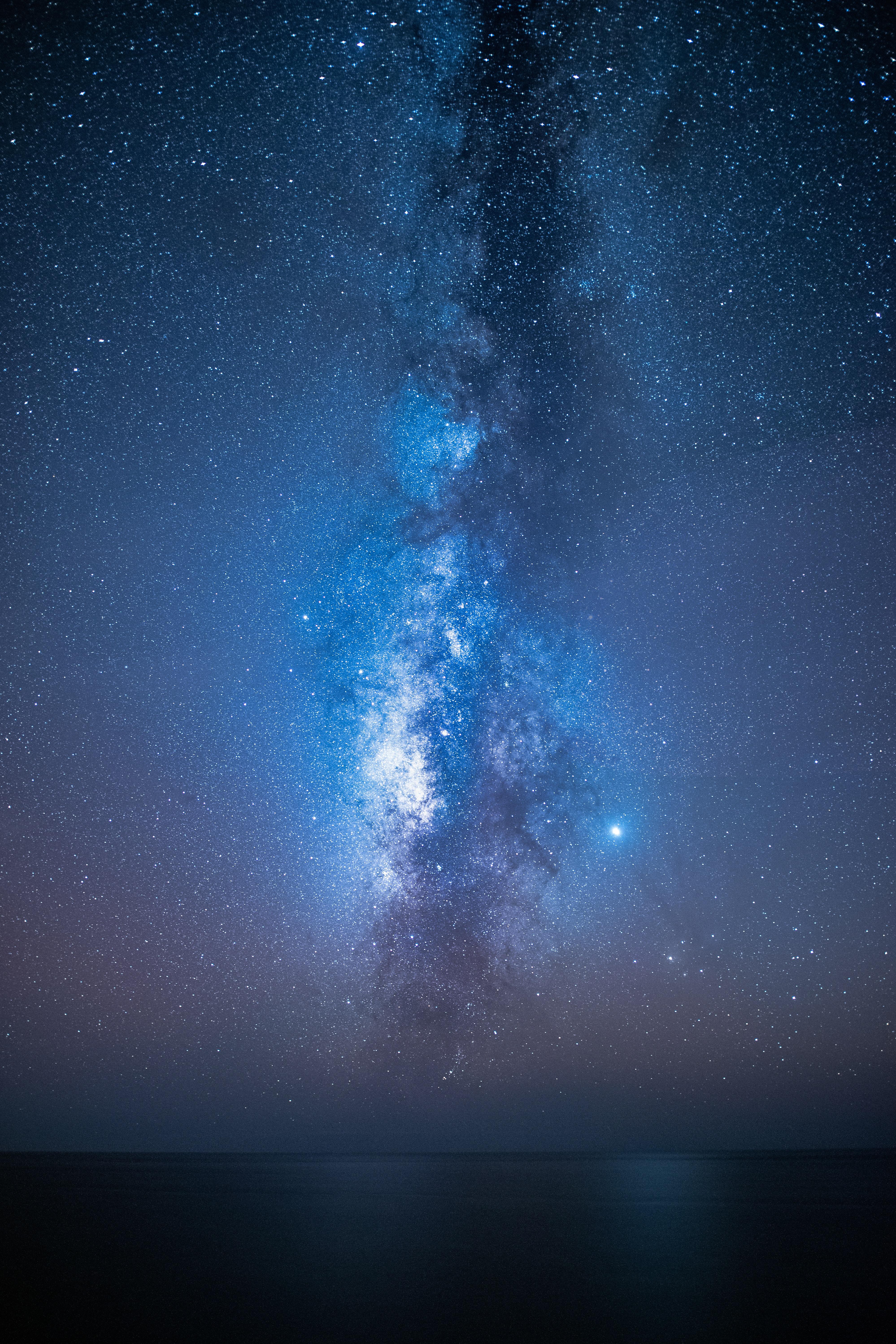 50456 скачать обои Темные, Звездное Небо, Млечный Путь, Ночь, Море, Звезды - заставки и картинки бесплатно