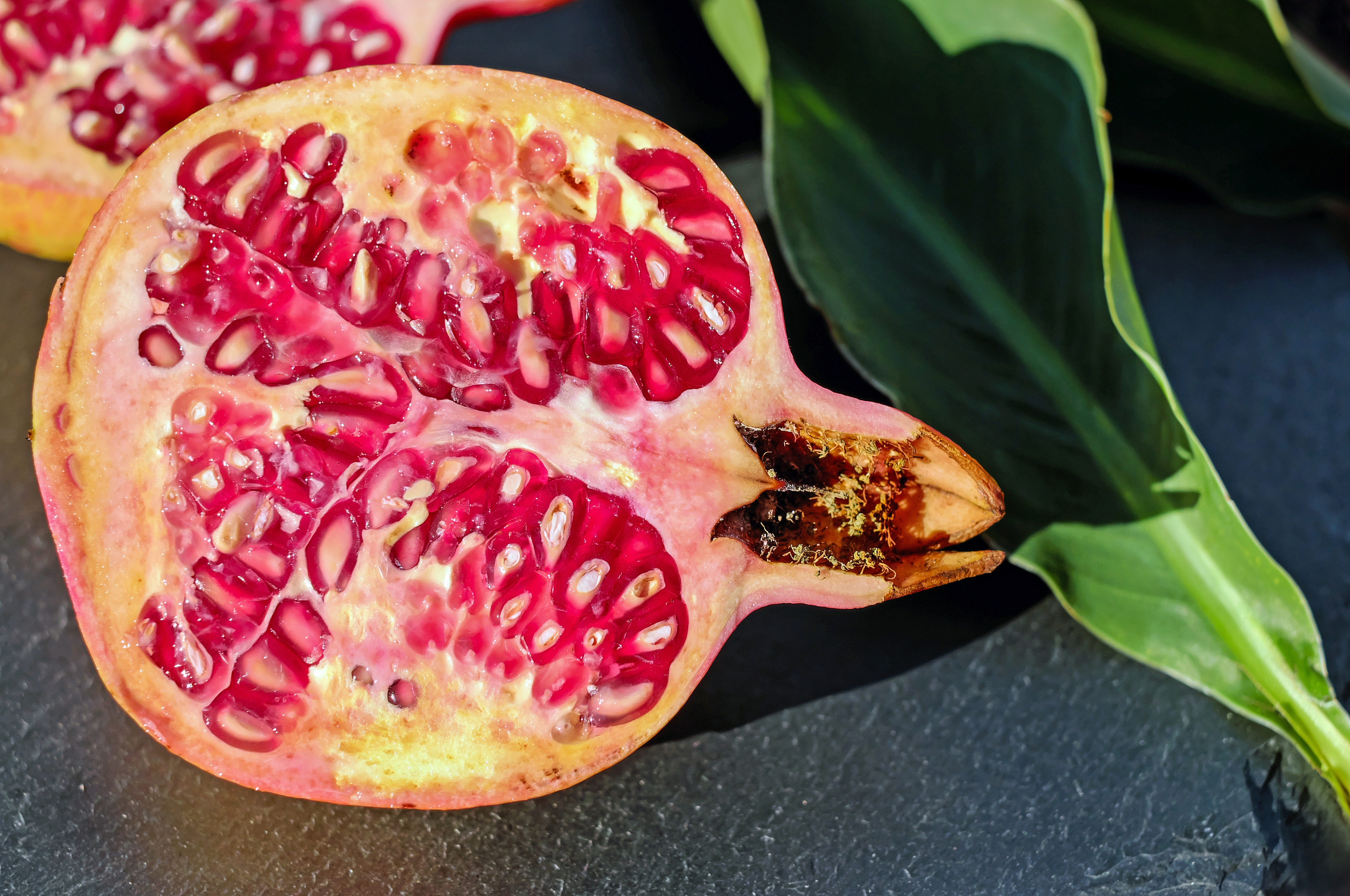 92372 download wallpaper Food, Berries, Fruit, Slice, Section, Garnet, Pomegranate screensavers and pictures for free