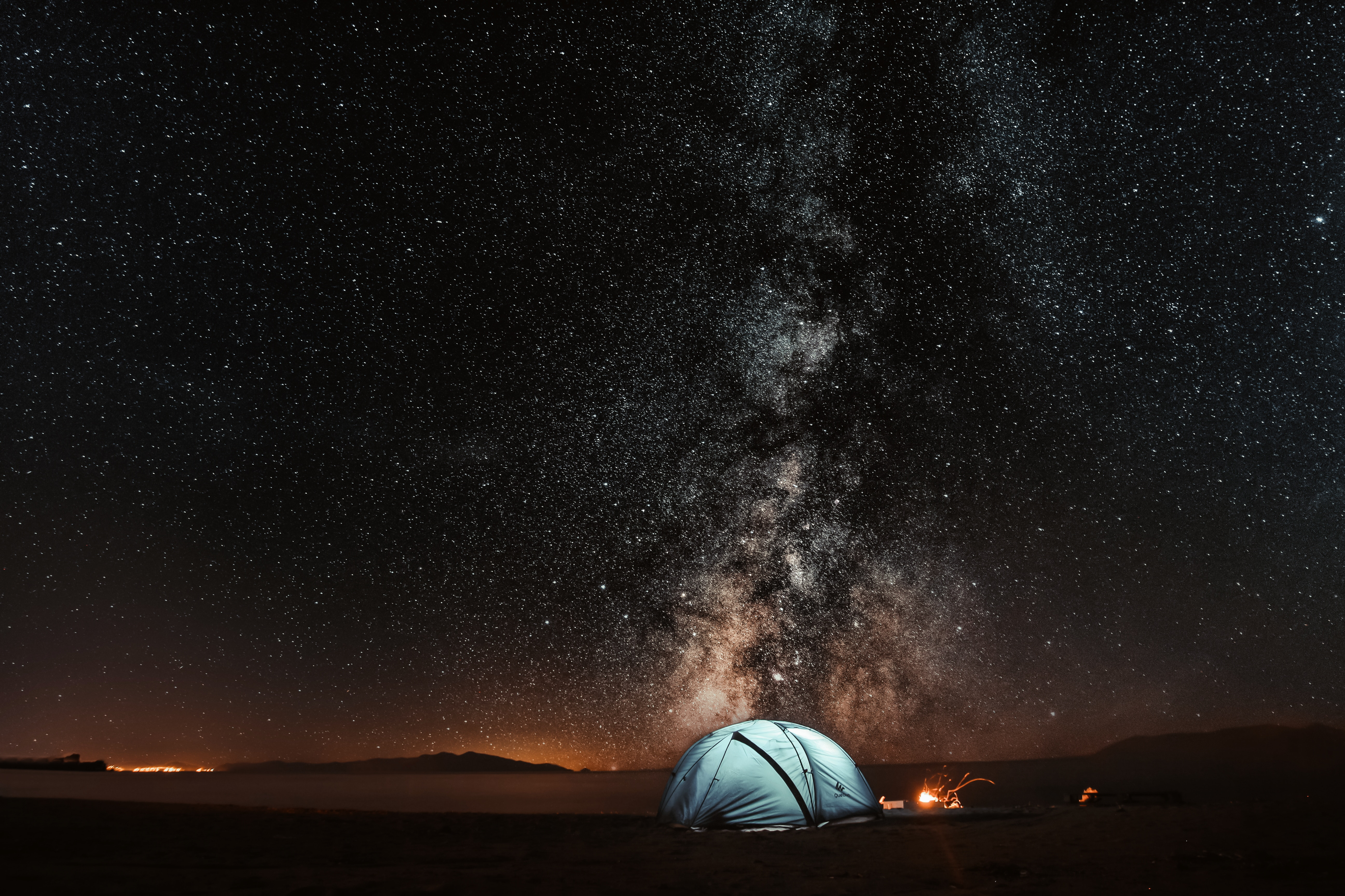 95857 Screensavers and Wallpapers Night for phone. Download Nature, Tent, Starry Sky, Night, Tourism pictures for free