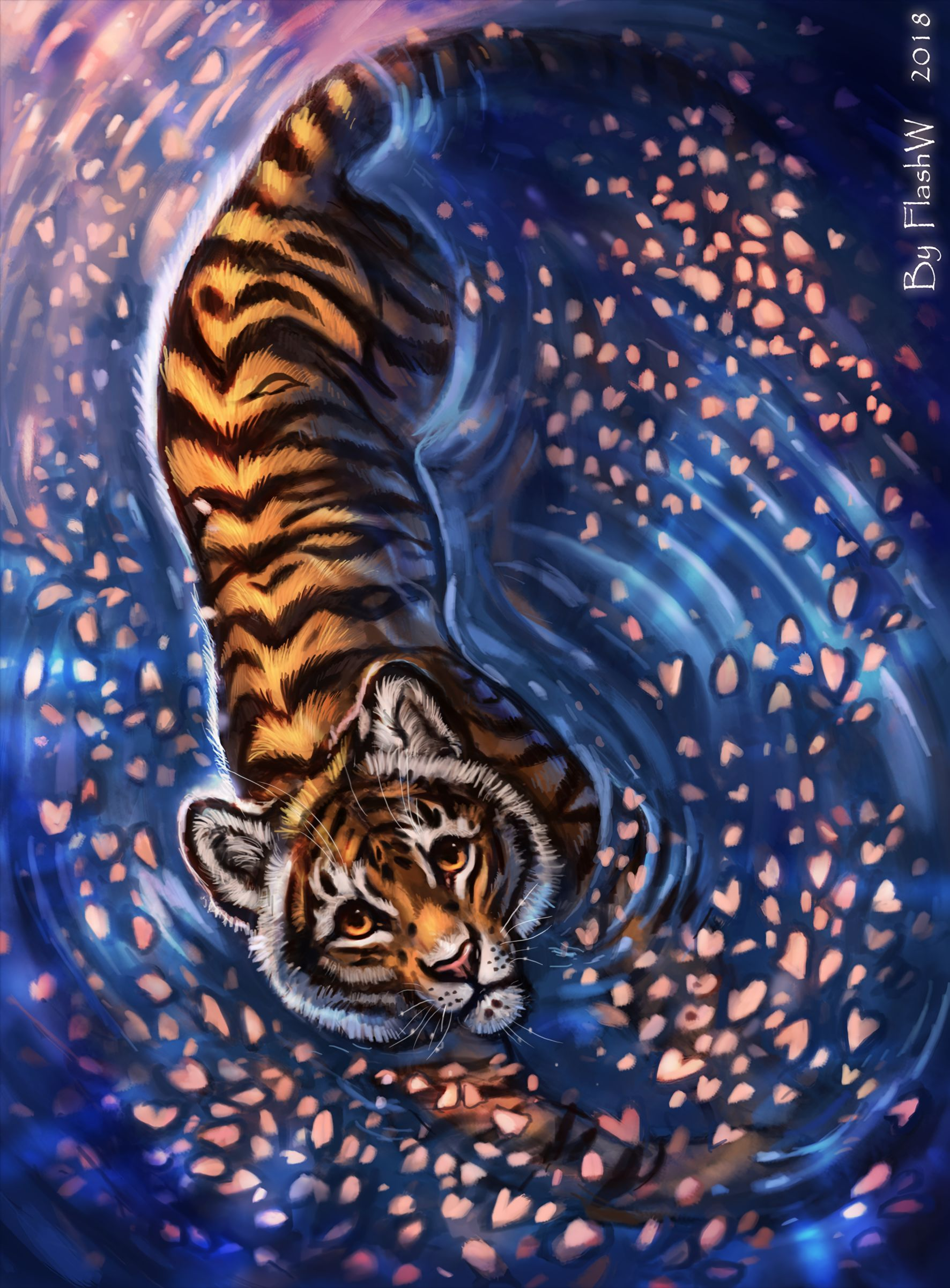 80703 download wallpaper Tiger, Young, Joey, Art, Nice, Sweetheart, Sight, Opinion screensavers and pictures for free