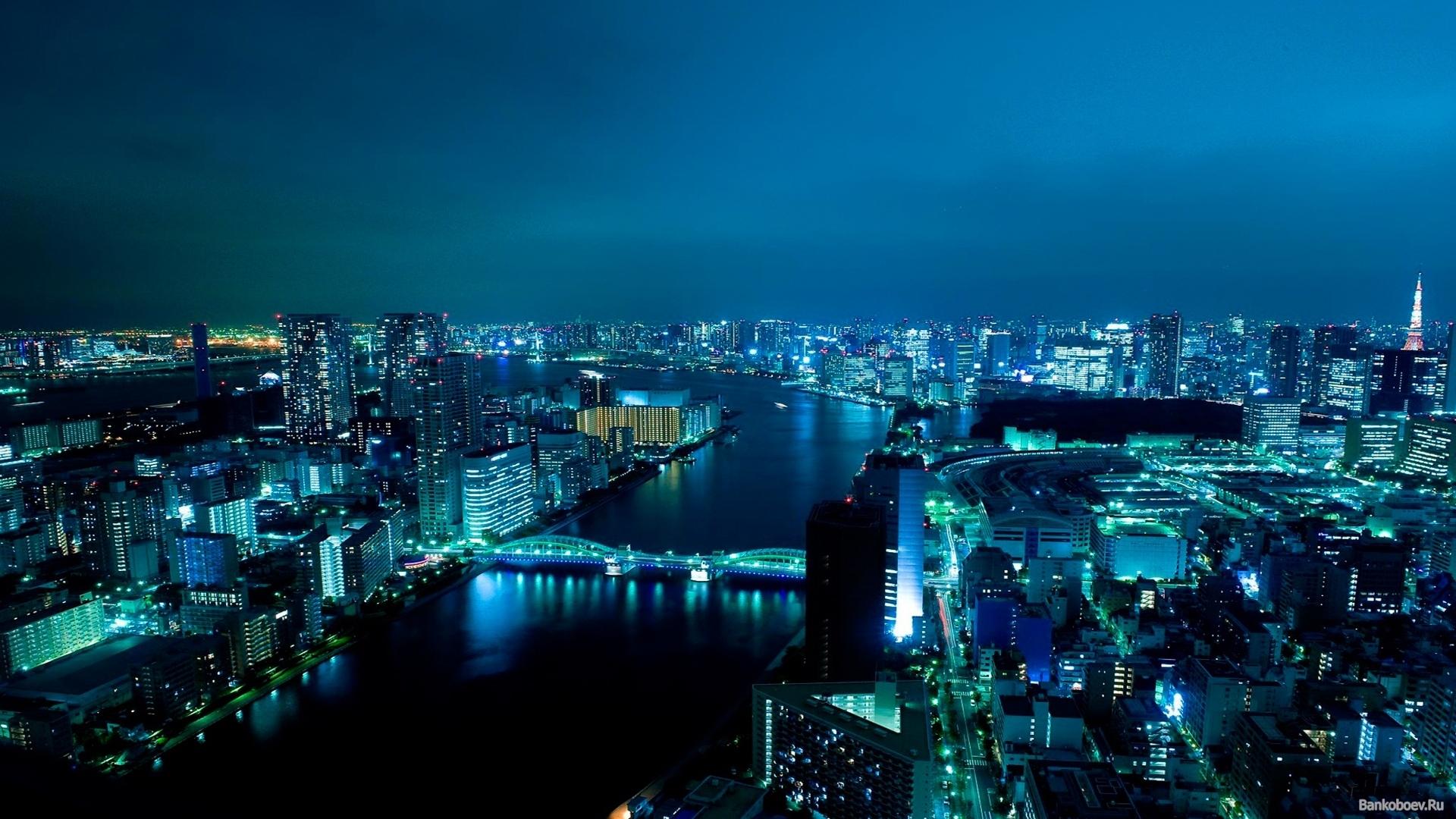 14315 скачать обои Пейзаж, Города, Река, Ночь - заставки и картинки бесплатно