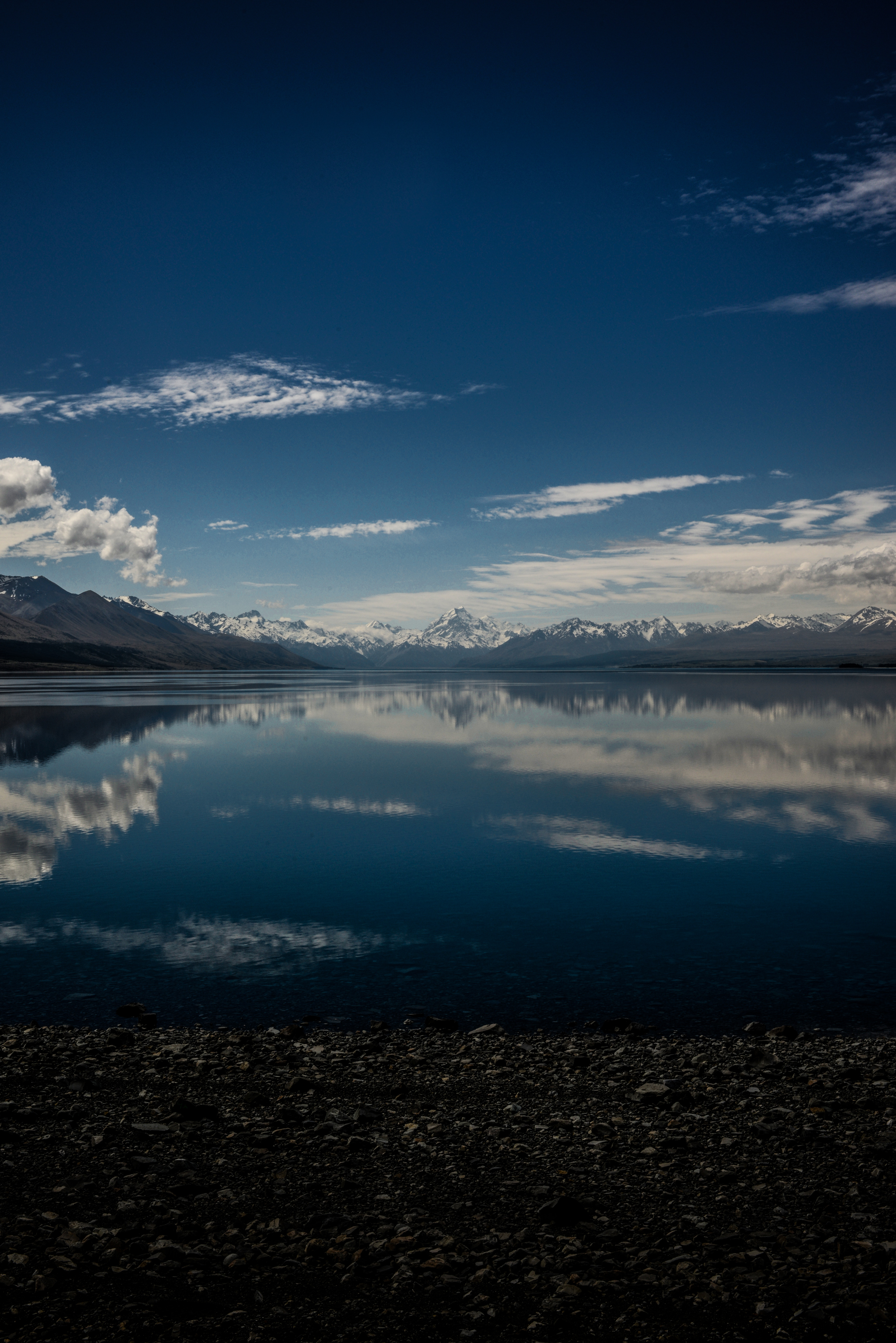 141336 Screensavers and Wallpapers New Zealand for phone. Download Nature, Mountains, Horizon, New Zealand, Lake Pukaki pictures for free