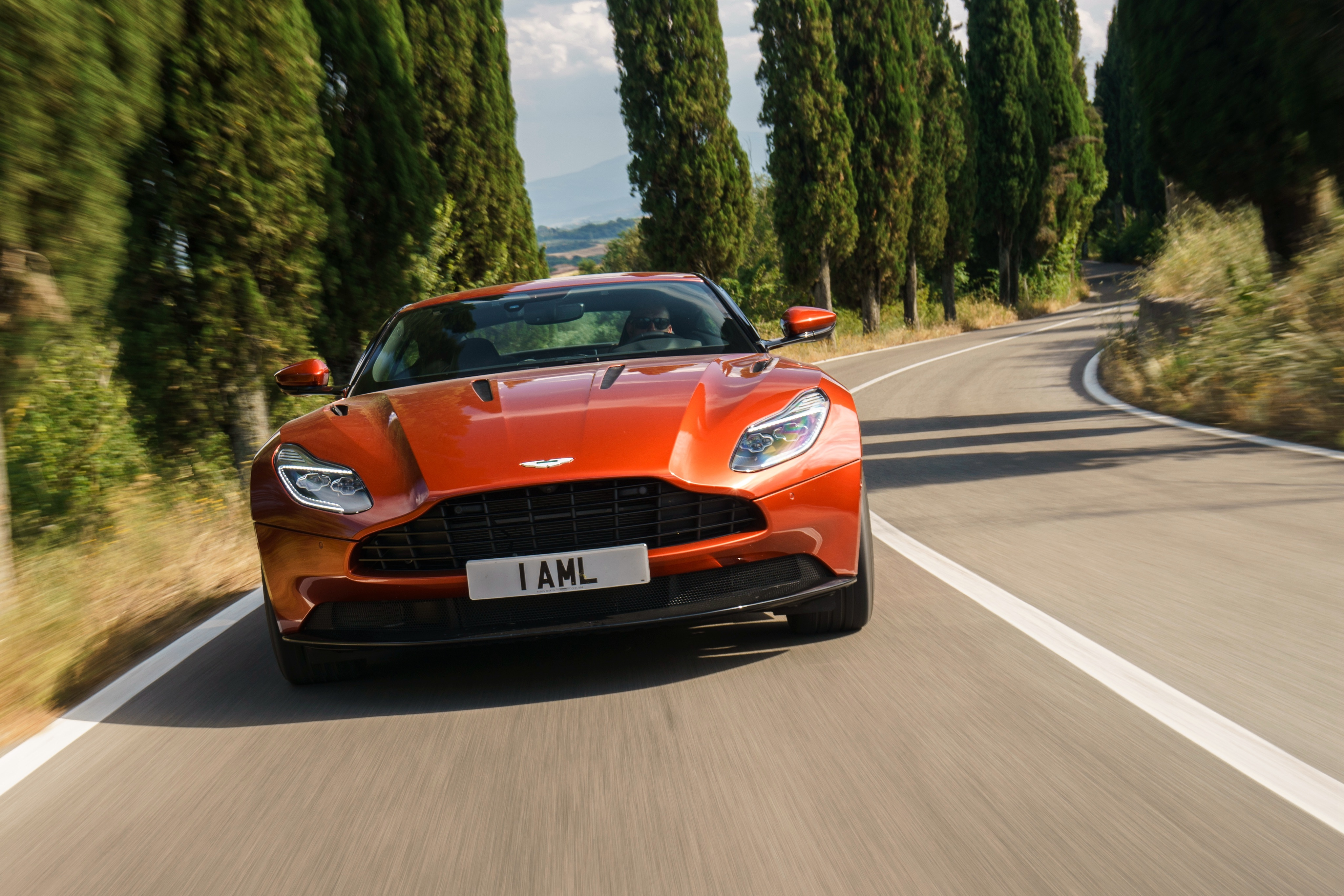 127742 Заставки и Обои Астон Мартин (Aston Martin) на телефон. Скачать Астон Мартин (Aston Martin), Тачки (Cars), Красный, Вид Спереди, Db11 картинки бесплатно