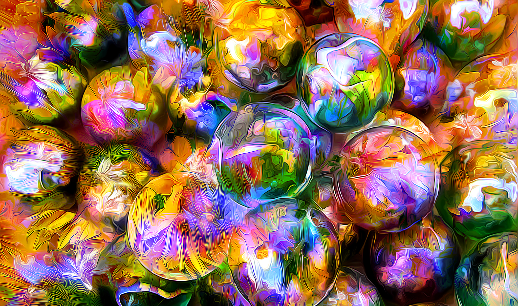 87289 Screensavers and Wallpapers Balls for phone. Download Abstract, Reflection, Petals, Balls, Greased, Smeared, Rendering pictures for free