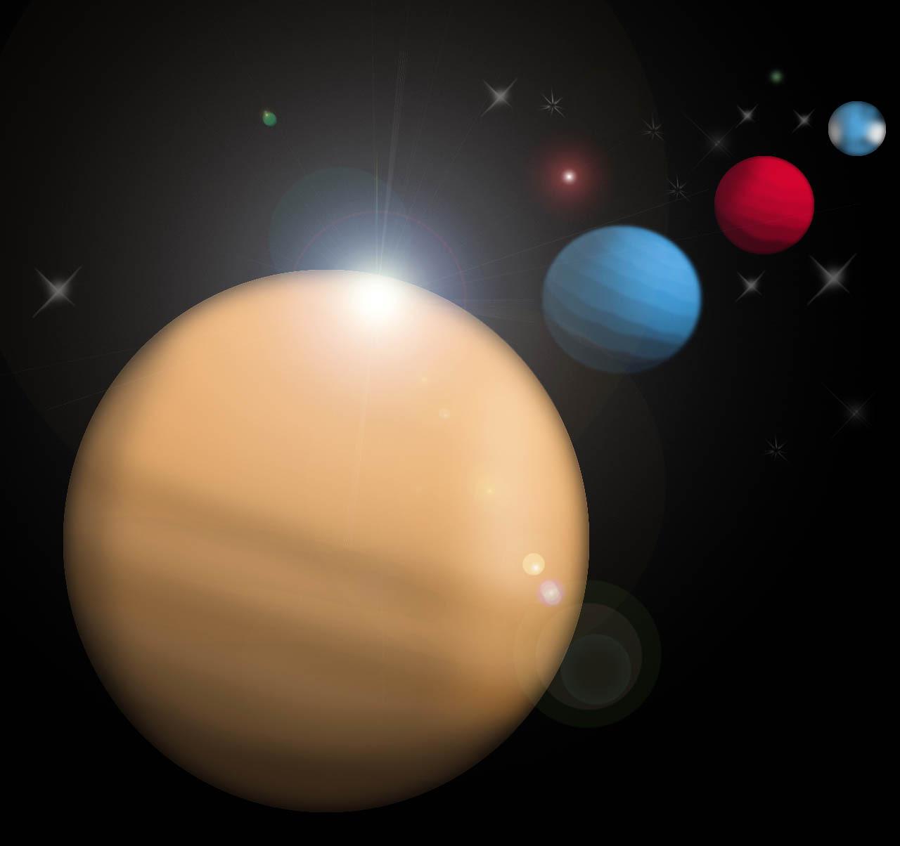 10724 скачать обои Планеты, Космос, Рисунки - заставки и картинки бесплатно