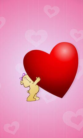 7284 descargar fondo de pantalla Vacaciones, Corazones, Amor, Día De San Valentín, Imágenes: protectores de pantalla e imágenes gratis