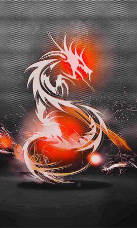 149069 télécharger le fond d'écran Abstrait, Le Dragon, Dragon, Contexte, Feu, Ombre - économiseurs d'écran et images gratuitement