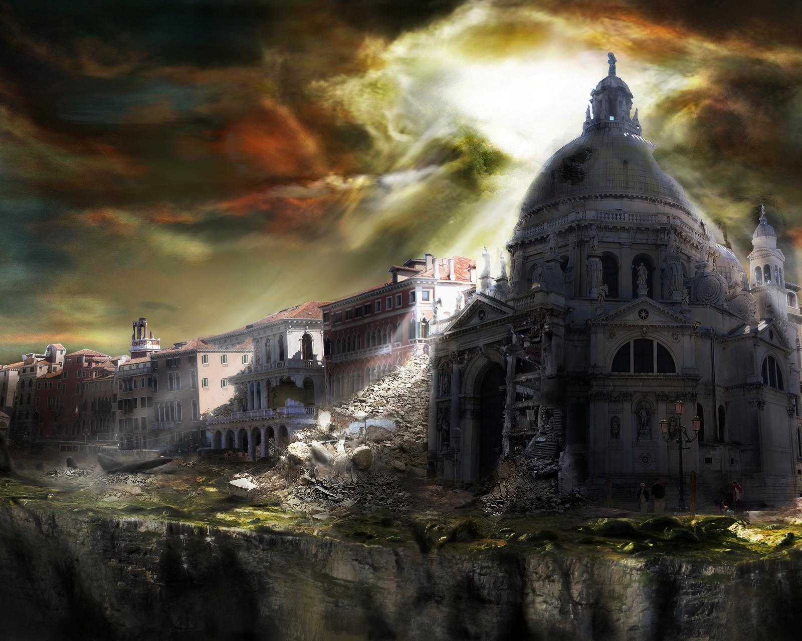 17163 скачать обои Пейзаж, Города, Фэнтези, Рисунки - заставки и картинки бесплатно