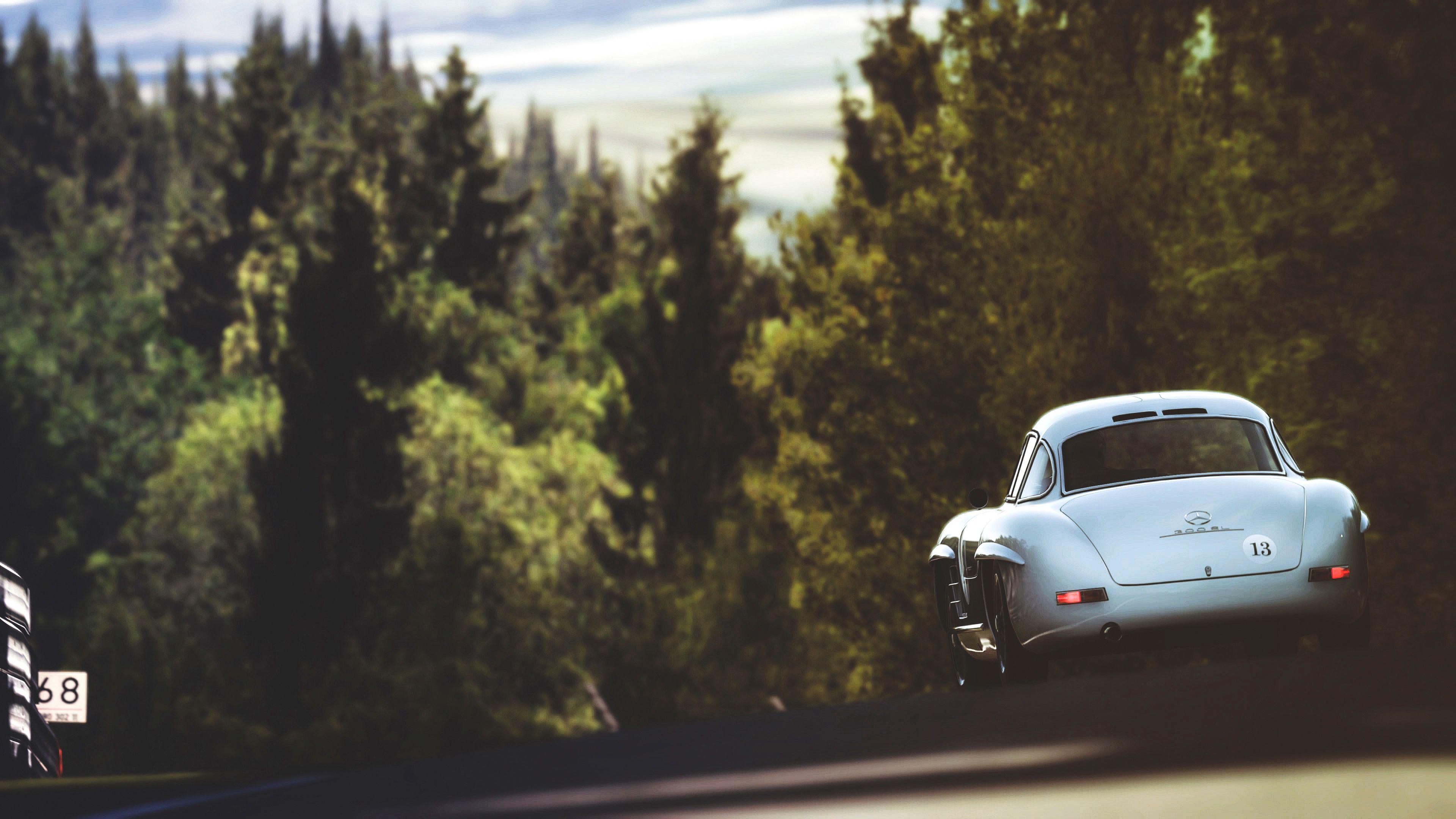 65836 Hintergrundbild herunterladen Mercedes, Cars, Rückansicht, Silber, Silbrig - Bildschirmschoner und Bilder kostenlos