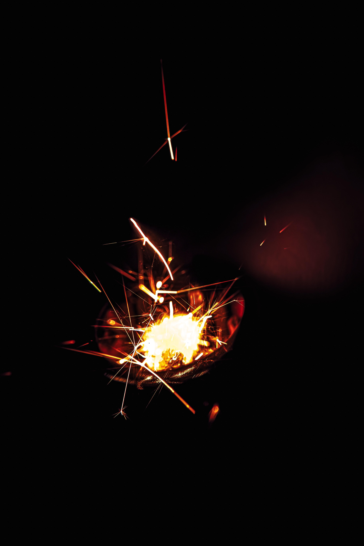 58685 免費下載壁紙 黑暗的, 黑暗, 火花, 火, 辉光, 发光, 黑色的 屏保和圖片