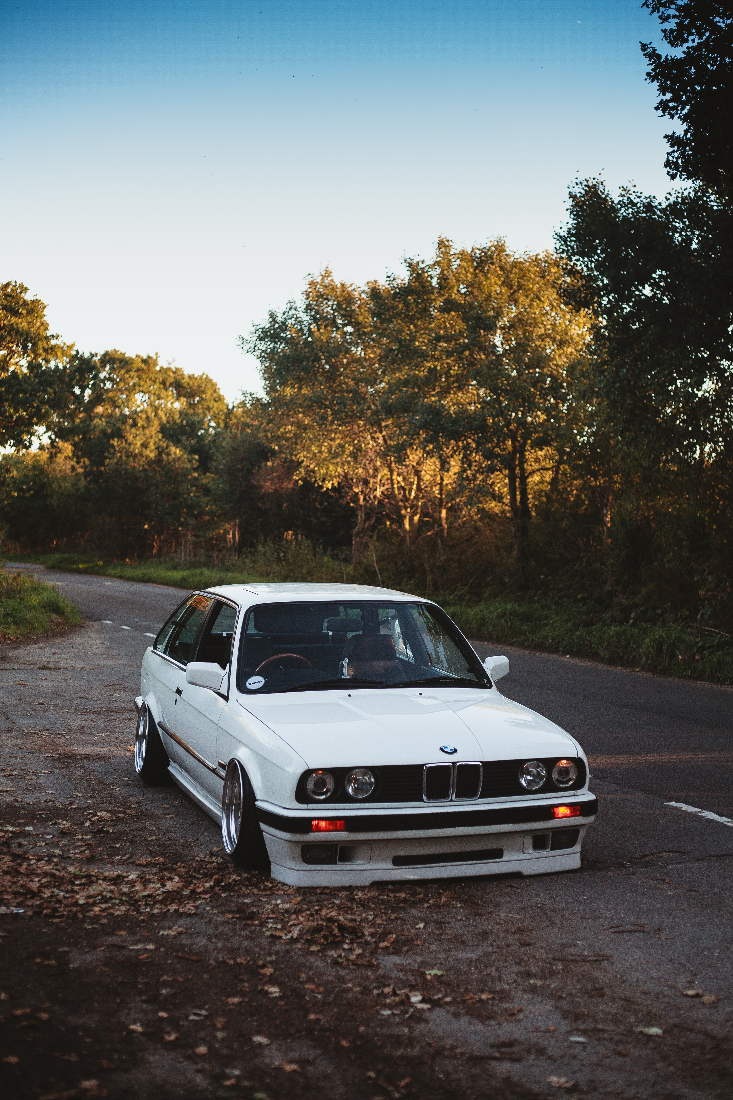 136637 download wallpaper Bmw, Trees, Autumn, Cars, Car screensavers and pictures for free
