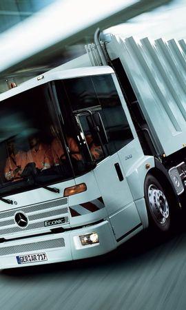 28525 скачать обои Транспорт, Машины, Мерседес (Mercedes), Грузовики - заставки и картинки бесплатно