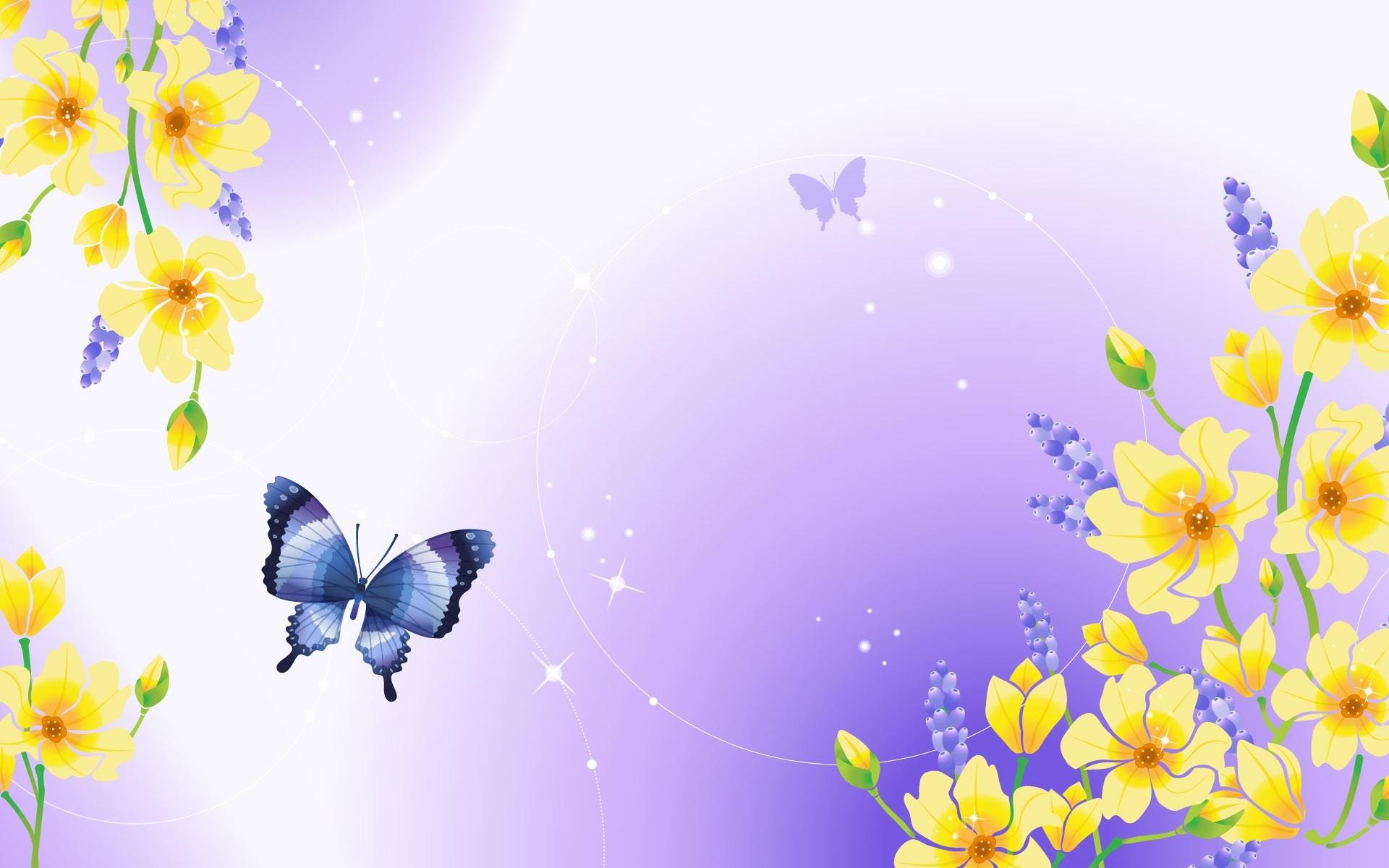 6275 скачать обои Бабочки, Фон, Рисунки - заставки и картинки бесплатно