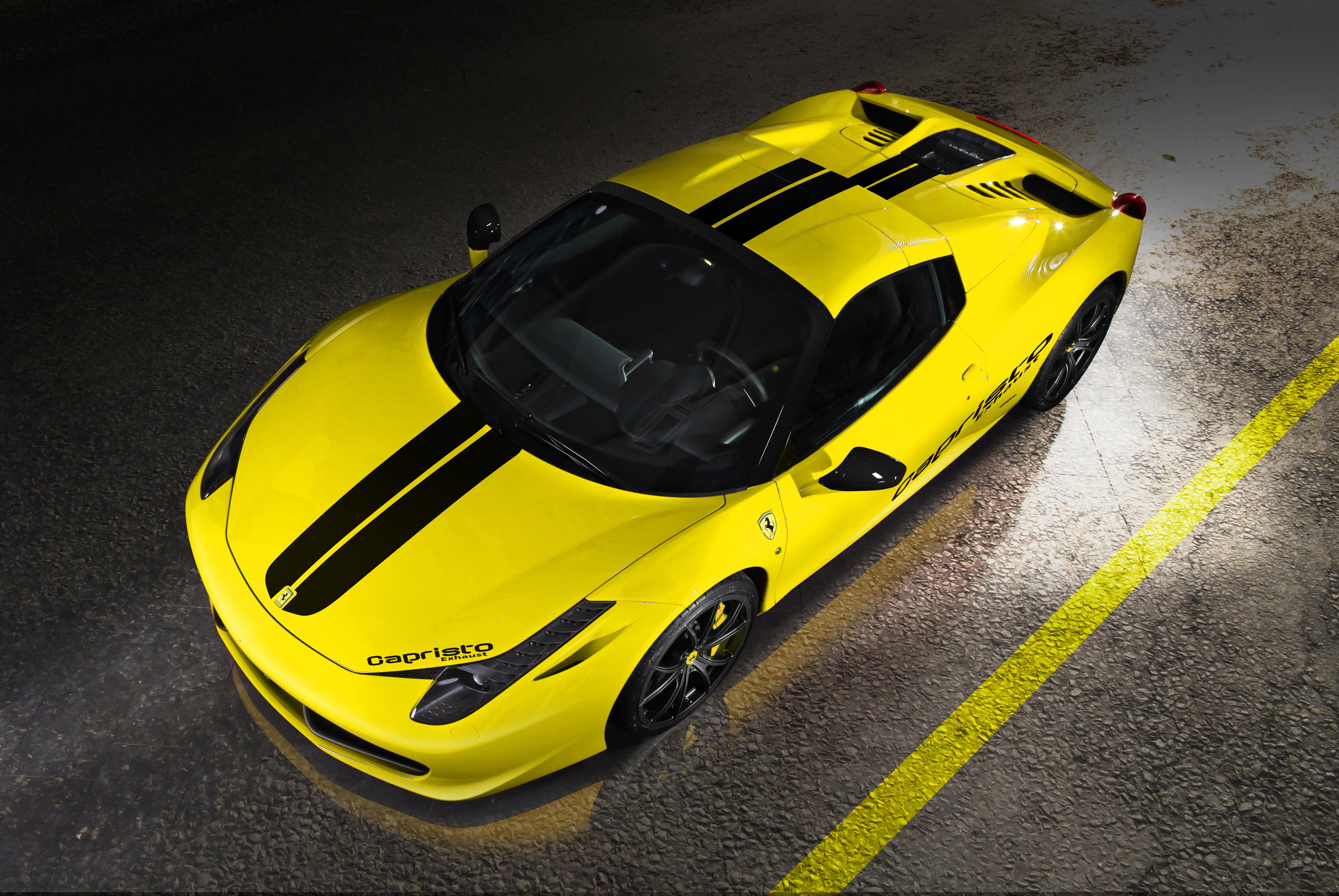 120174 download wallpaper Ferrari, Cars, Spider, 458 Italia, Capristo screensavers and pictures for free