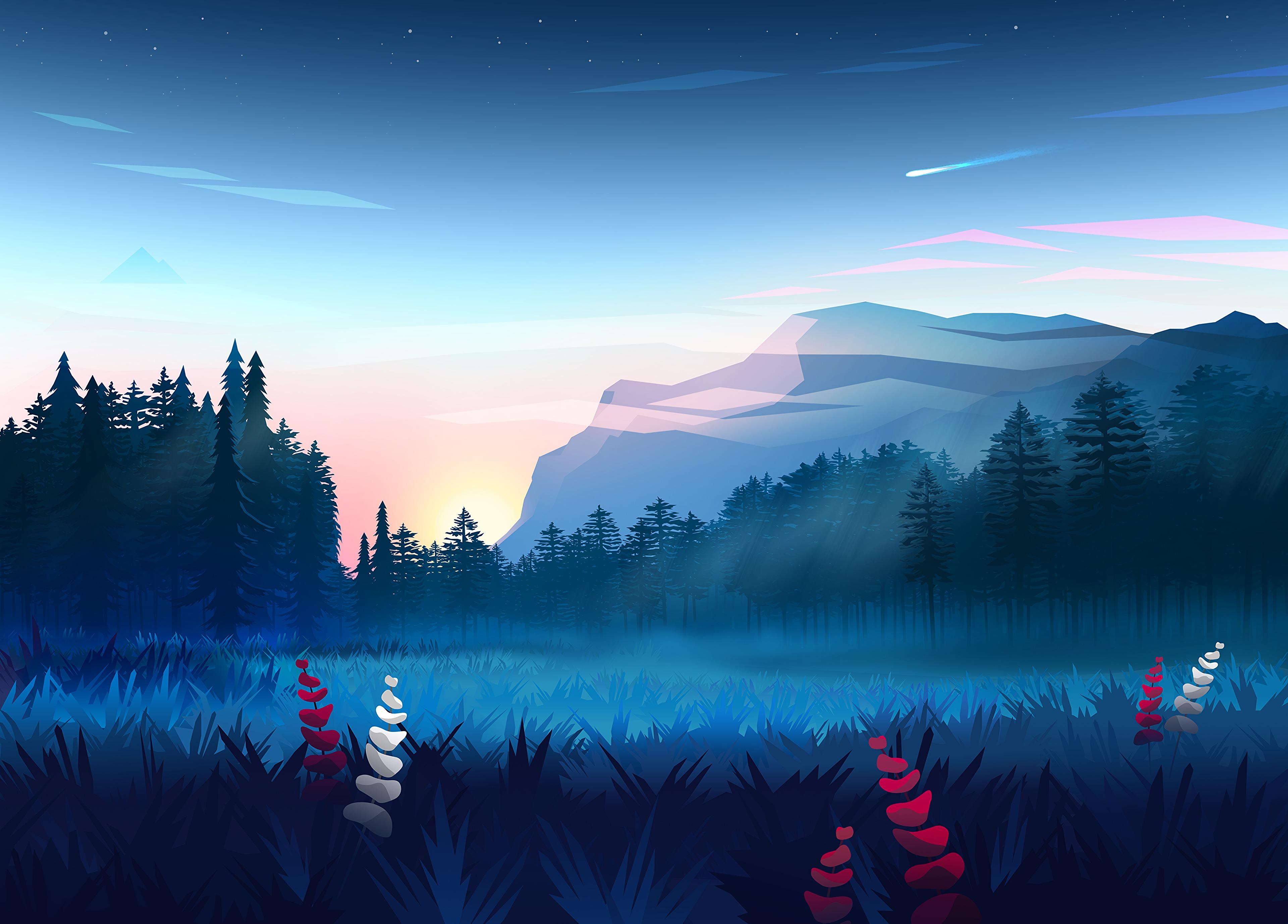142456 Protetores de tela e papéis de parede Montanhas em seu telefone. Baixe Montanhas, Paisagem, Grama, Arte, Vetor, Floresta, Névoa, Nevoeiro, Gramado fotos gratuitamente