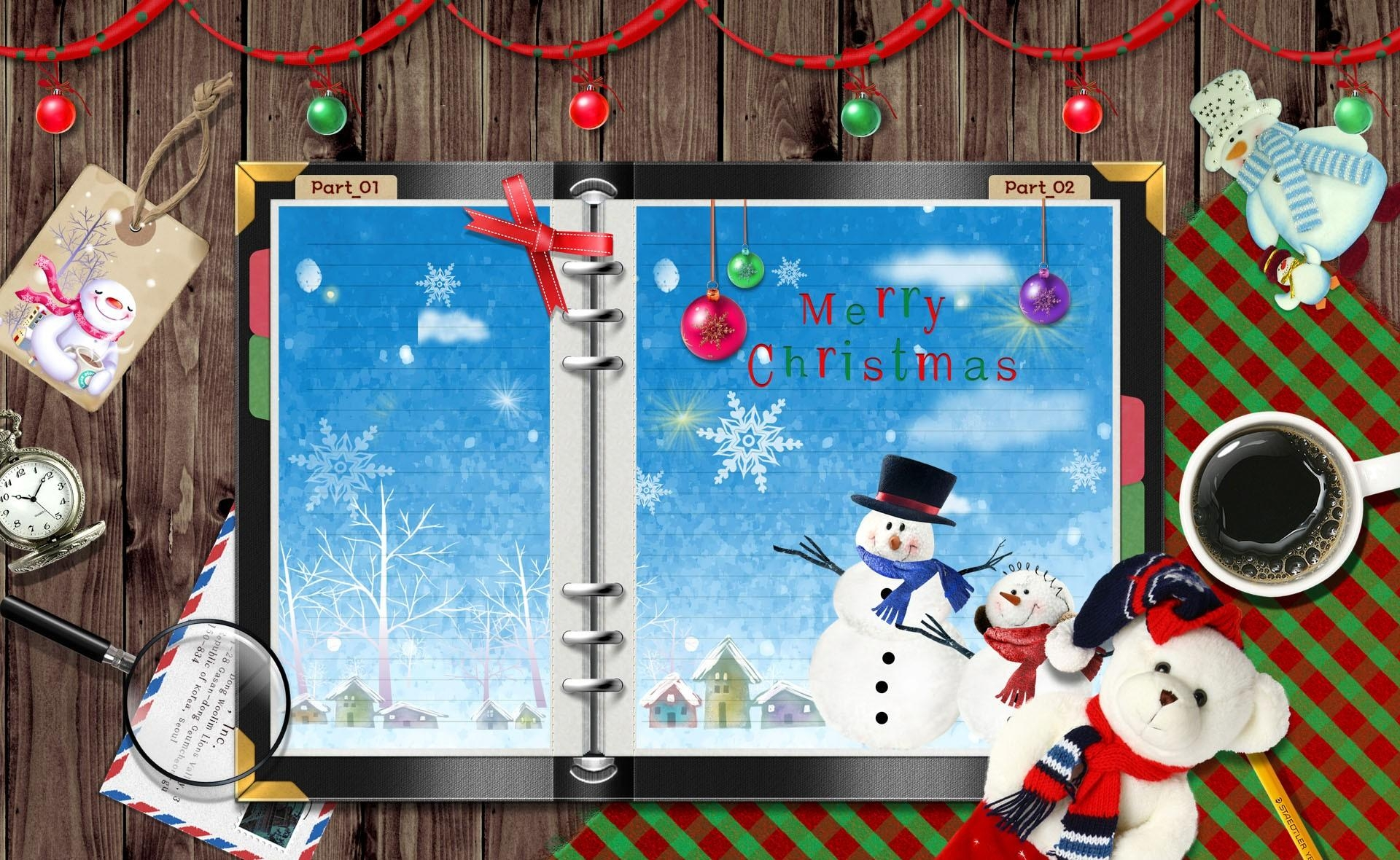 134464 Screensavers and Wallpapers Toys for phone. Download Holidays, Toys, Snowflakes, Coffee, Snowman, Christmas, Holiday, Table, Notebook, Notepad pictures for free