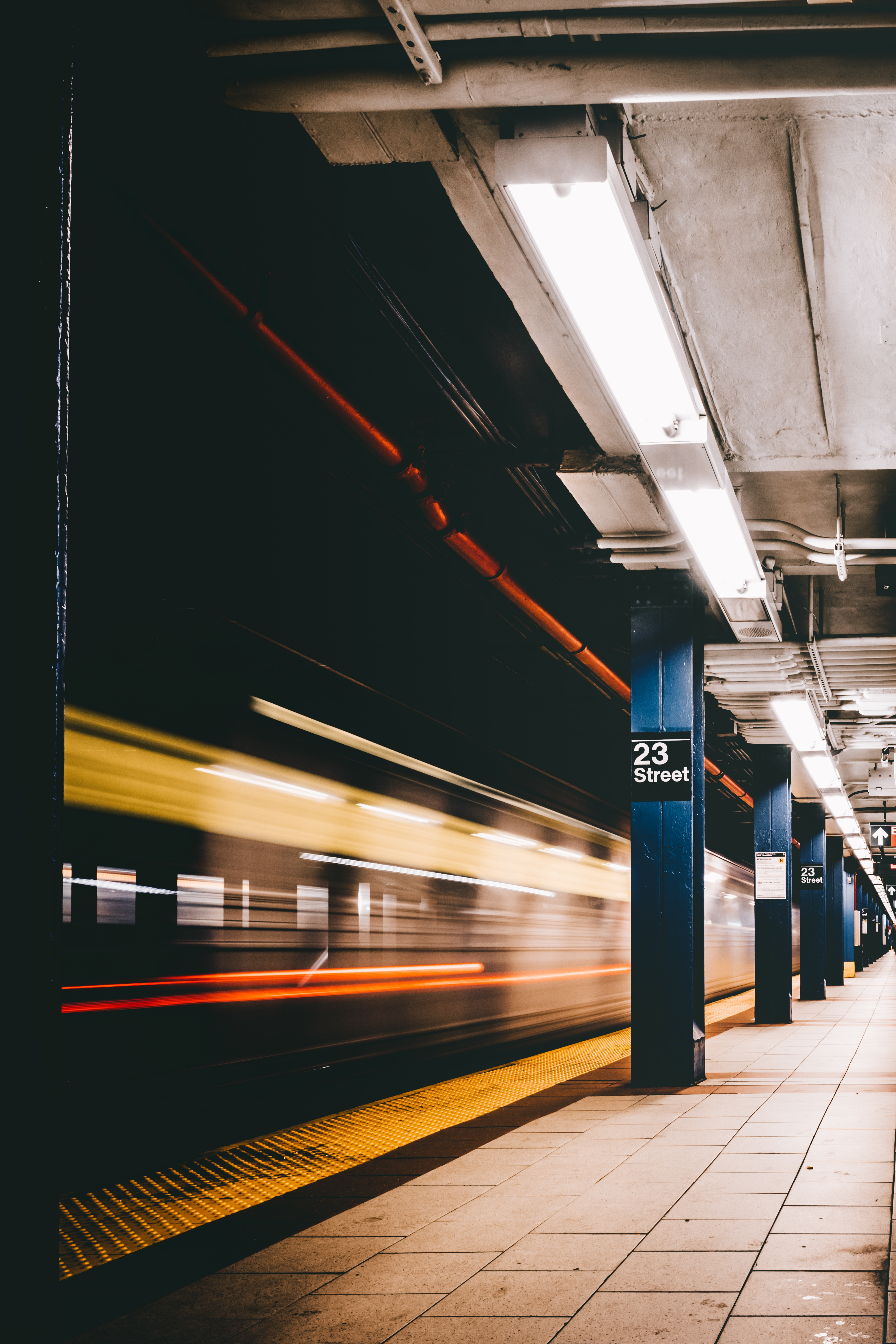 88863 Screensavers and Wallpapers Metro for phone. Download Lights, Miscellanea, Miscellaneous, Lanterns, Station, Underground, Train, Metro, Subway, Column, Columns pictures for free