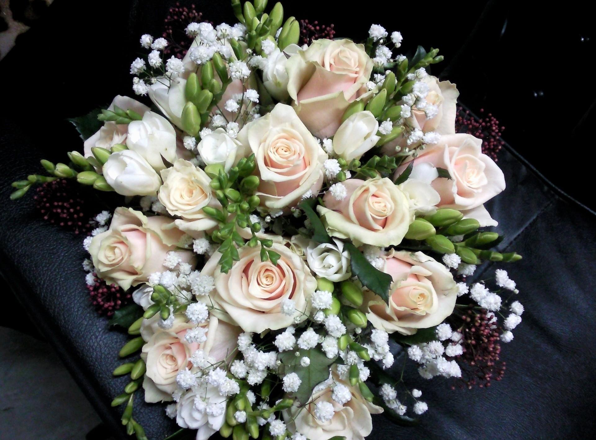 56861 Заставки и Обои Розы на телефон. Скачать Оформление, Цветы, Розы, Букет, Гипсофил, Фрезия картинки бесплатно