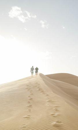 95330 скачать обои Разное, Люди, Песок, Холмы, Прогулка, Пустыня - заставки и картинки бесплатно