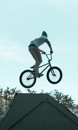 151186 descargar fondo de pantalla Deportes, Ciclista, Truco, Rebotar, Saltar: protectores de pantalla e imágenes gratis