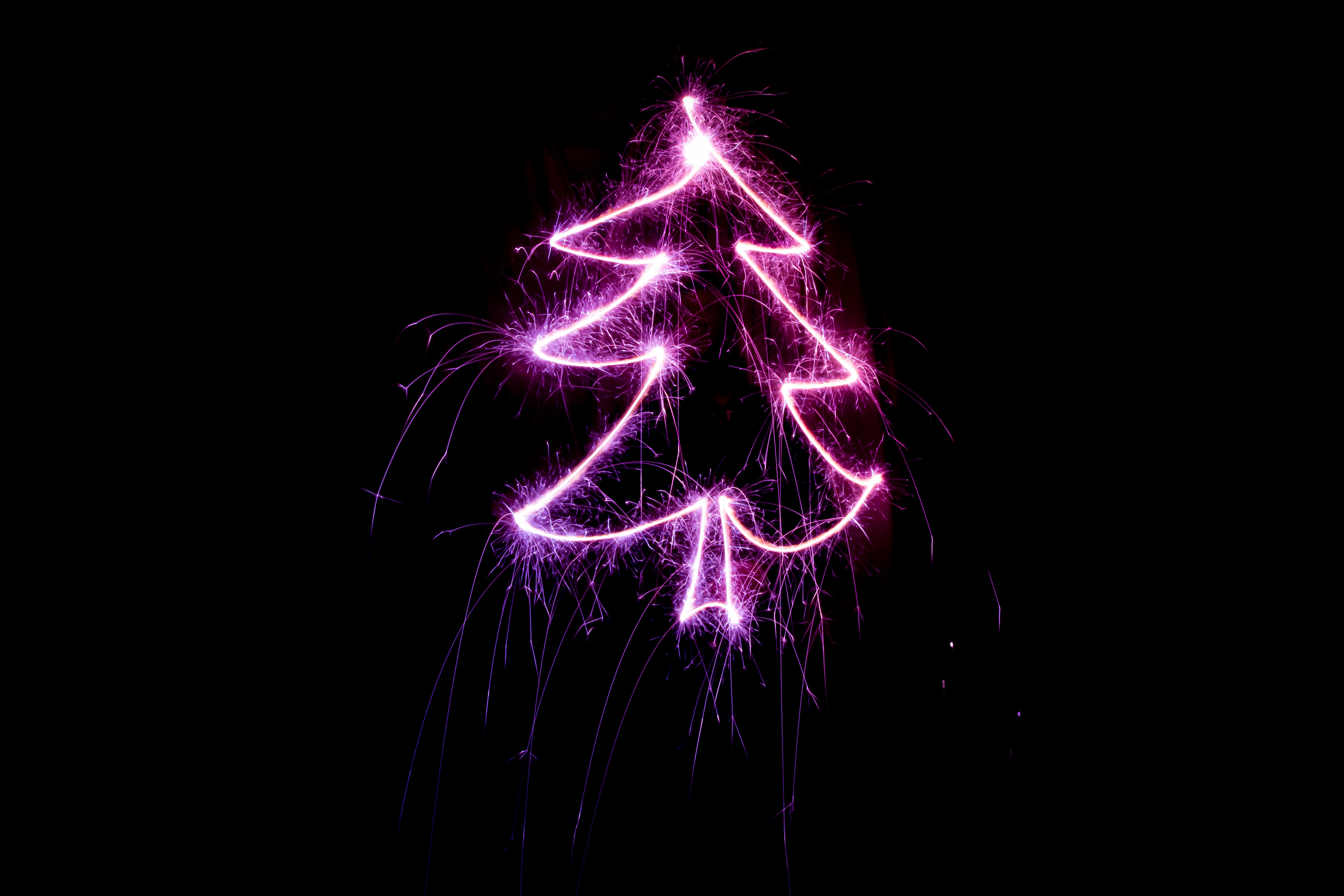 152476 download wallpaper Holidays, Art, Shine, Light, Sparks, Christmas Tree screensavers and pictures for free