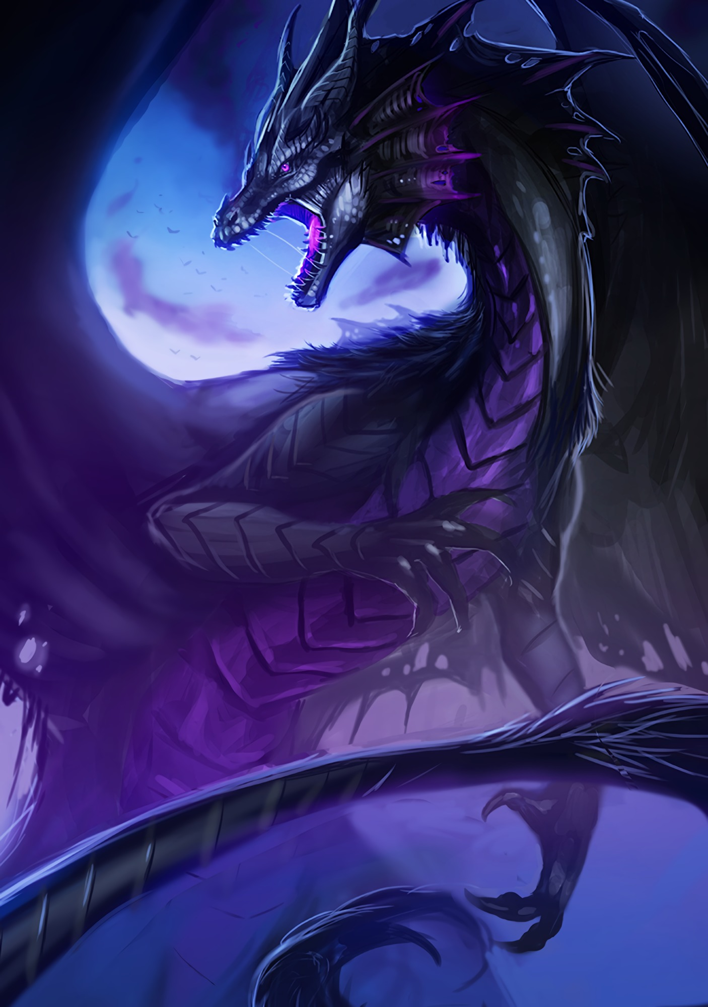 107937 Screensavers and Wallpapers Fiction for phone. Download Art, Grin, Dragon, Being, Creature, Fiction, That's Incredible pictures for free