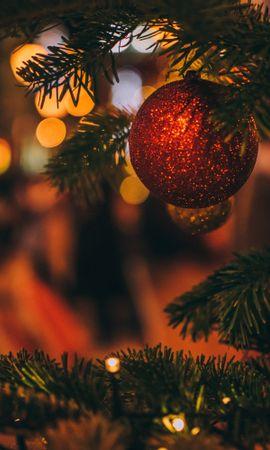 81698 télécharger le fond d'écran Fêtes, Jouet D'arbre De Noël, Arbre De Noël, Sapin De Noël, Noël, Nouvel An, Flou, Lisse, Décoration - économiseurs d'écran et images gratuitement