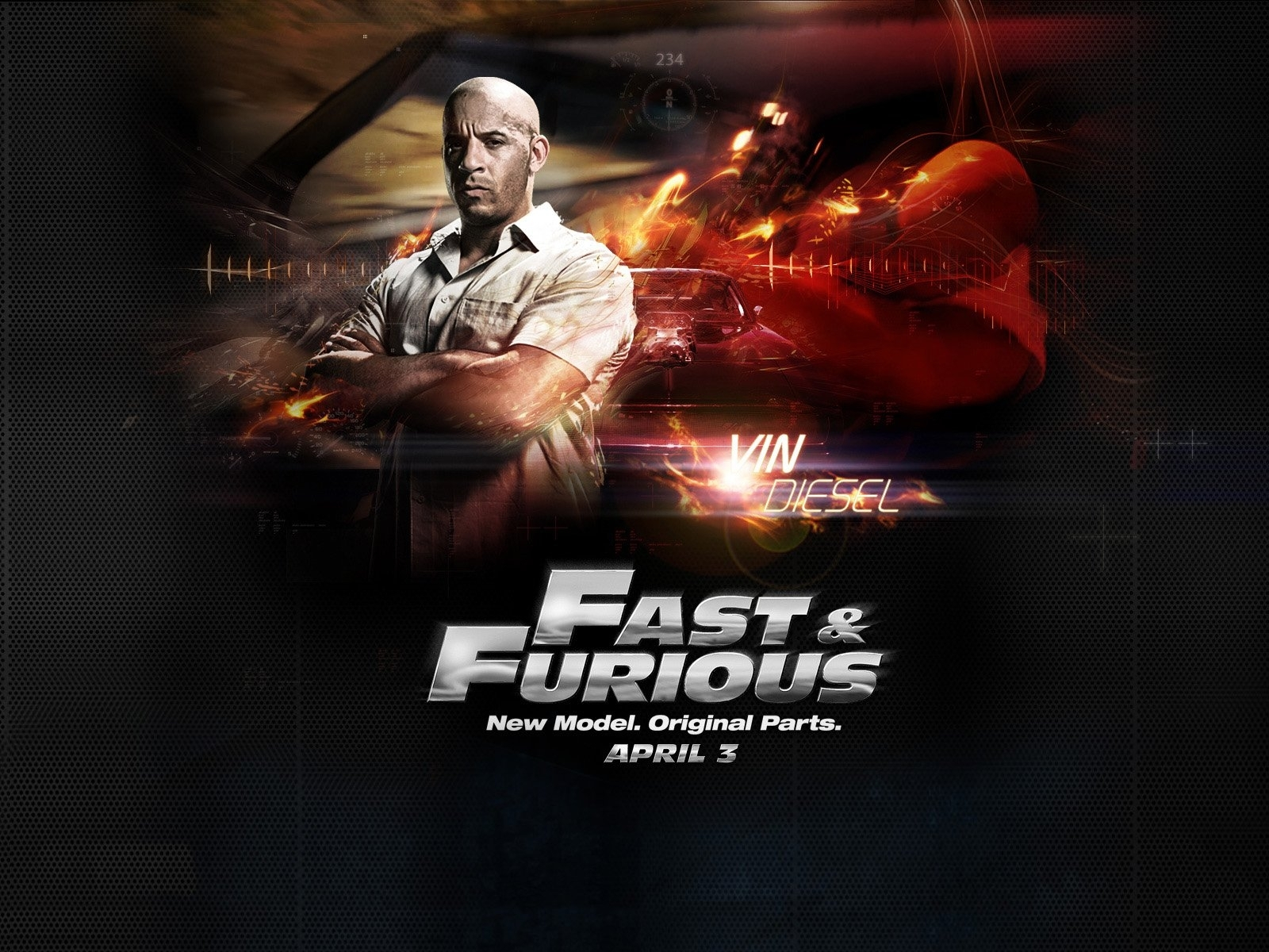 4214 download wallpaper Cinema, People, Actors, Men, Need For Speed, Vin Diesel screensavers and pictures for free