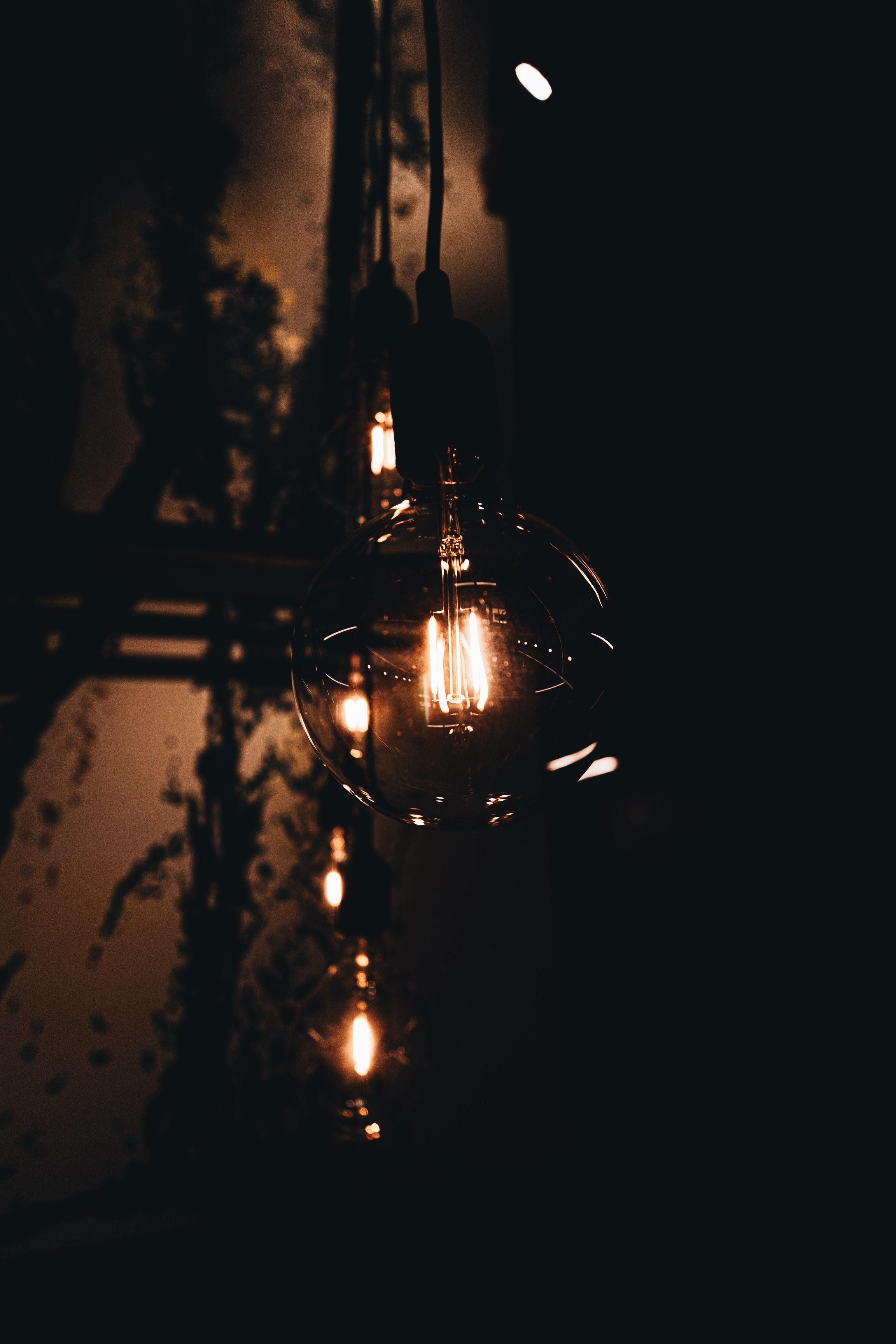 85348 télécharger le fond d'écran Sombre, Lampe, Briller, Lueur, Le Noir - économiseurs d'écran et images gratuitement