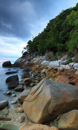 21541 скачать обои Пейзаж, Река, Камни - заставки и картинки бесплатно