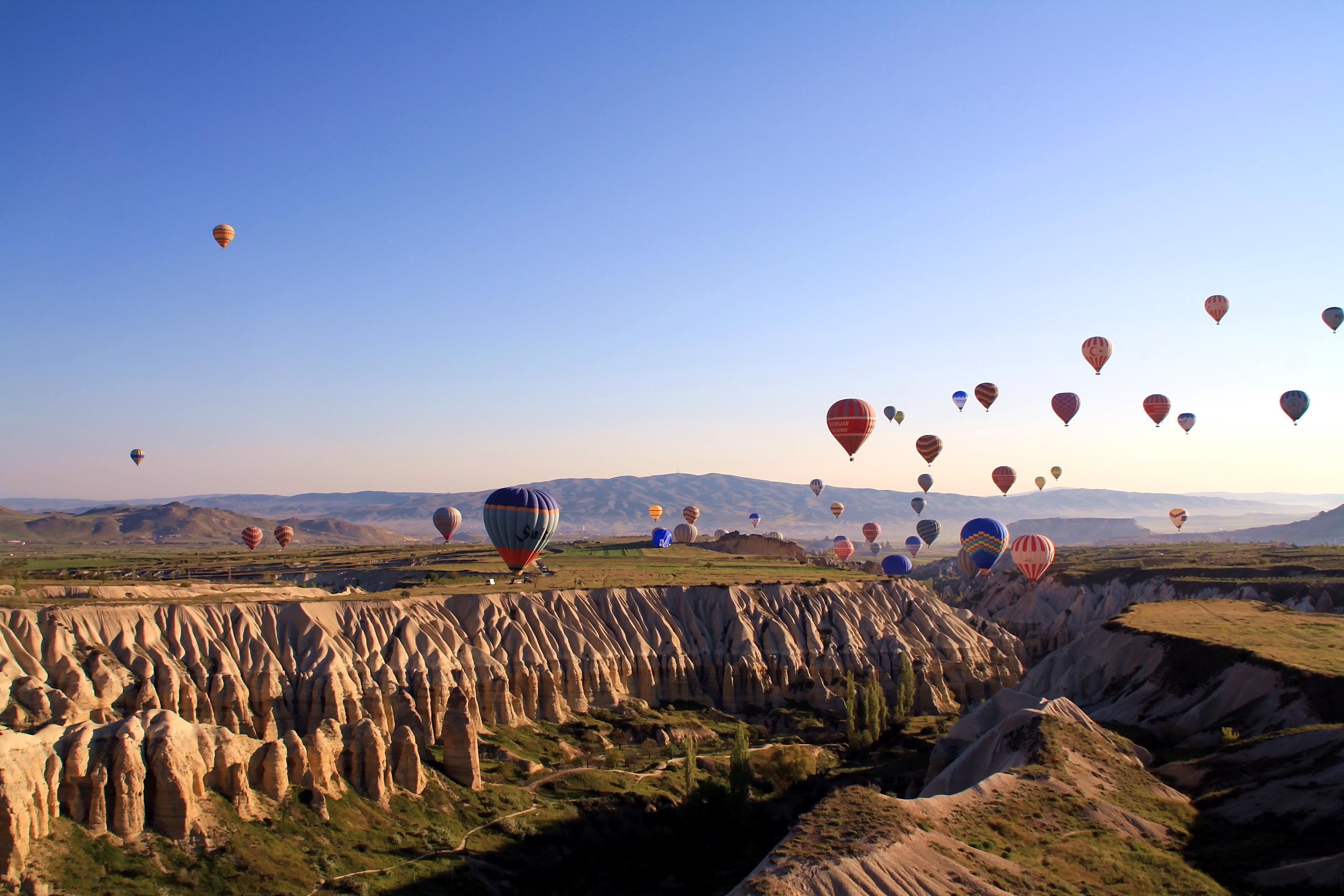 20829 скачать обои Пейзаж, Горы, Воздушные Шары - заставки и картинки бесплатно