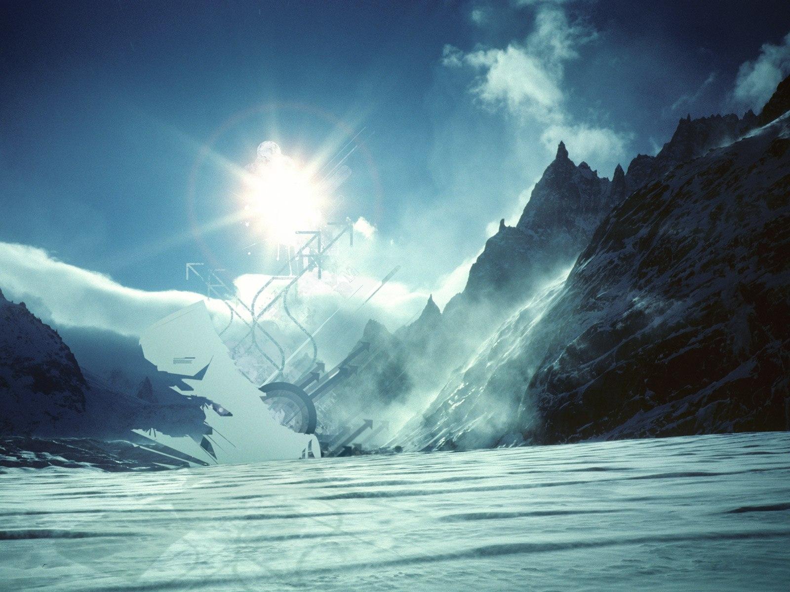 9598 скачать обои Пейзаж, Зима, Горы, Солнце - заставки и картинки бесплатно