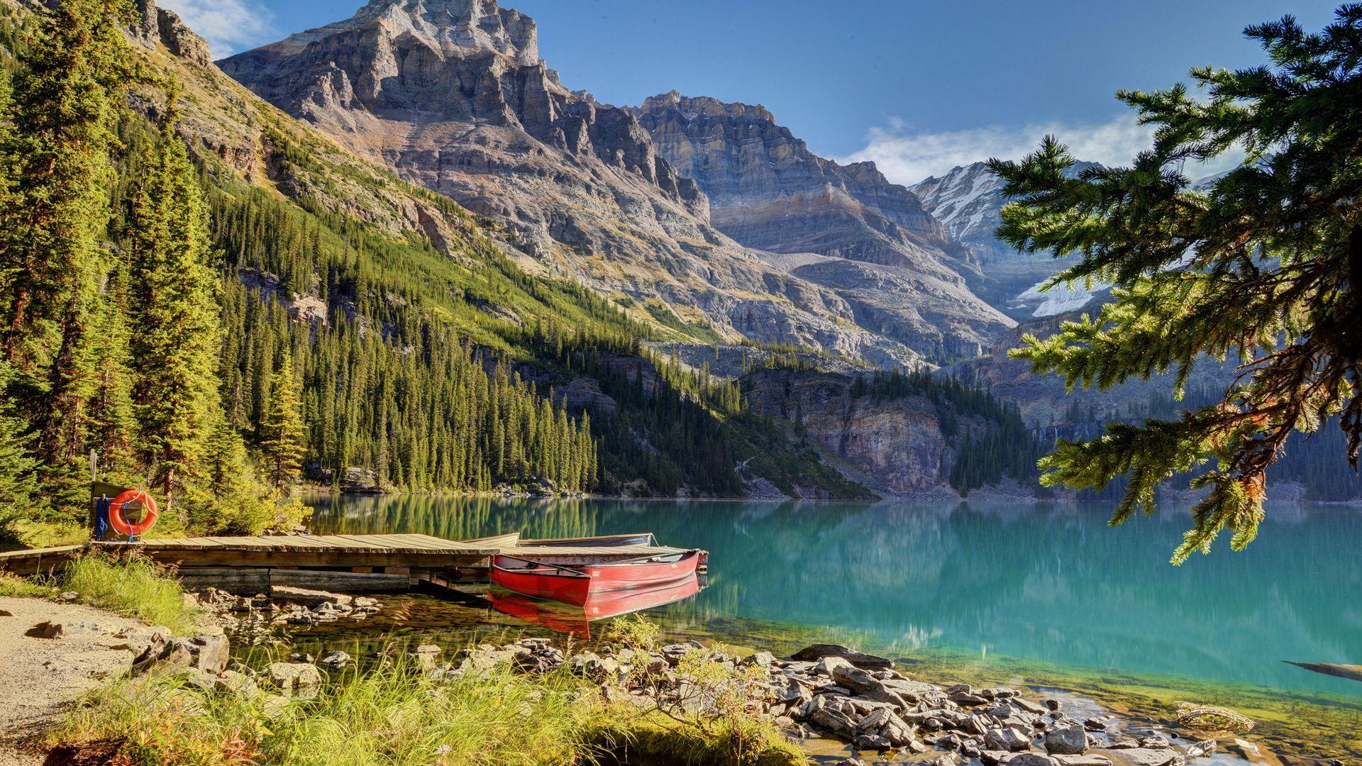 89521 fond d'écran 1125x2436 sur votre téléphone gratuitement, téléchargez des images Beau Paysage, Nature, Montagnes, Lac, Un Bateau, Bateau 1125x2436 sur votre mobile