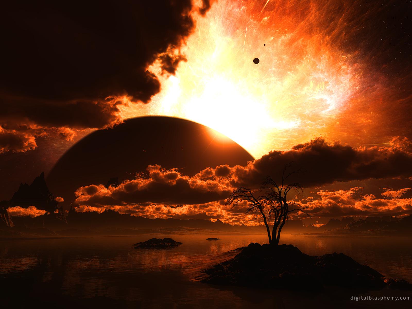 19024 скачать обои Пейзаж, Закат, Планеты, Космос, Облака - заставки и картинки бесплатно