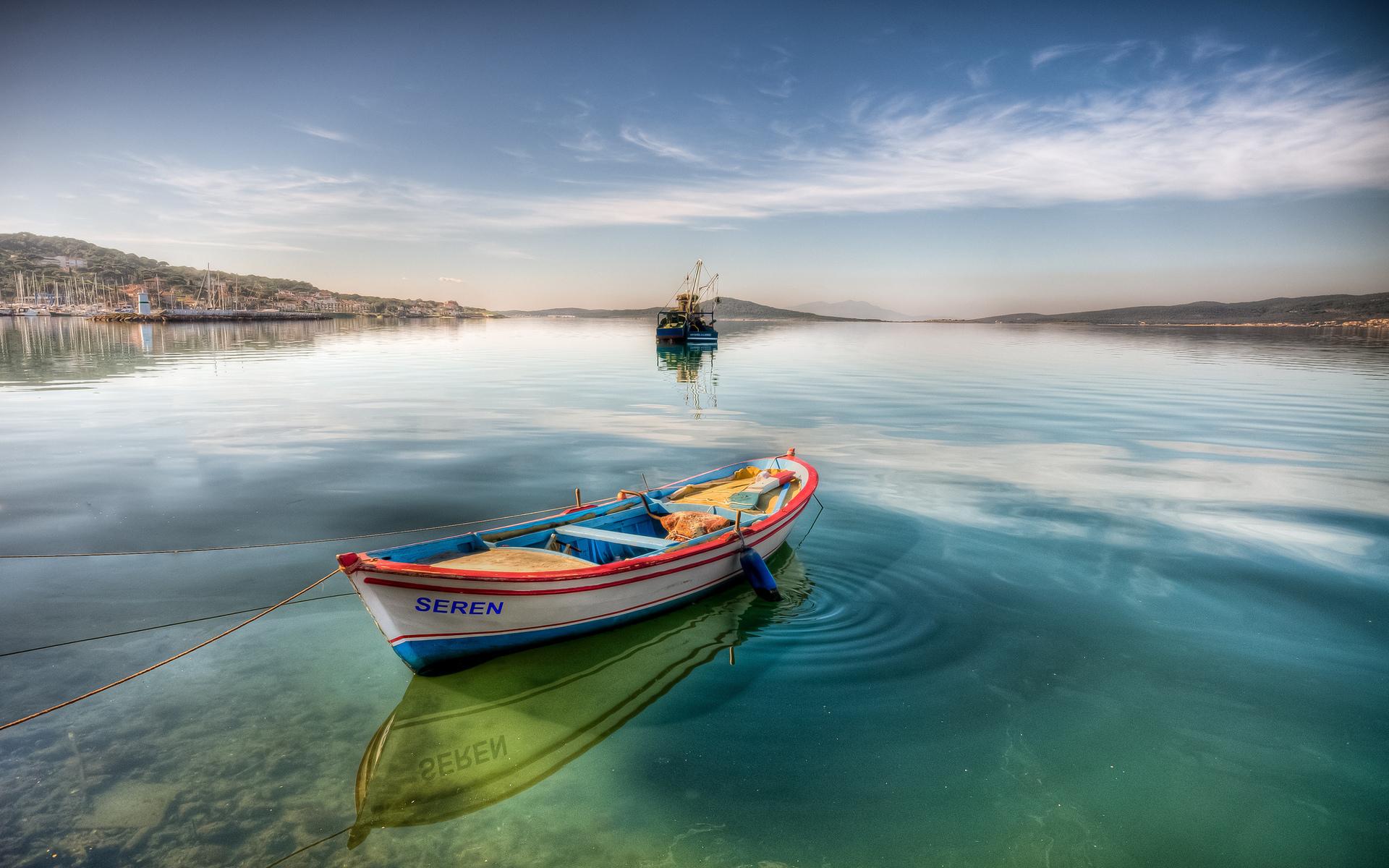 25328 скачать обои Транспорт, Пейзаж, Море, Лодки - заставки и картинки бесплатно