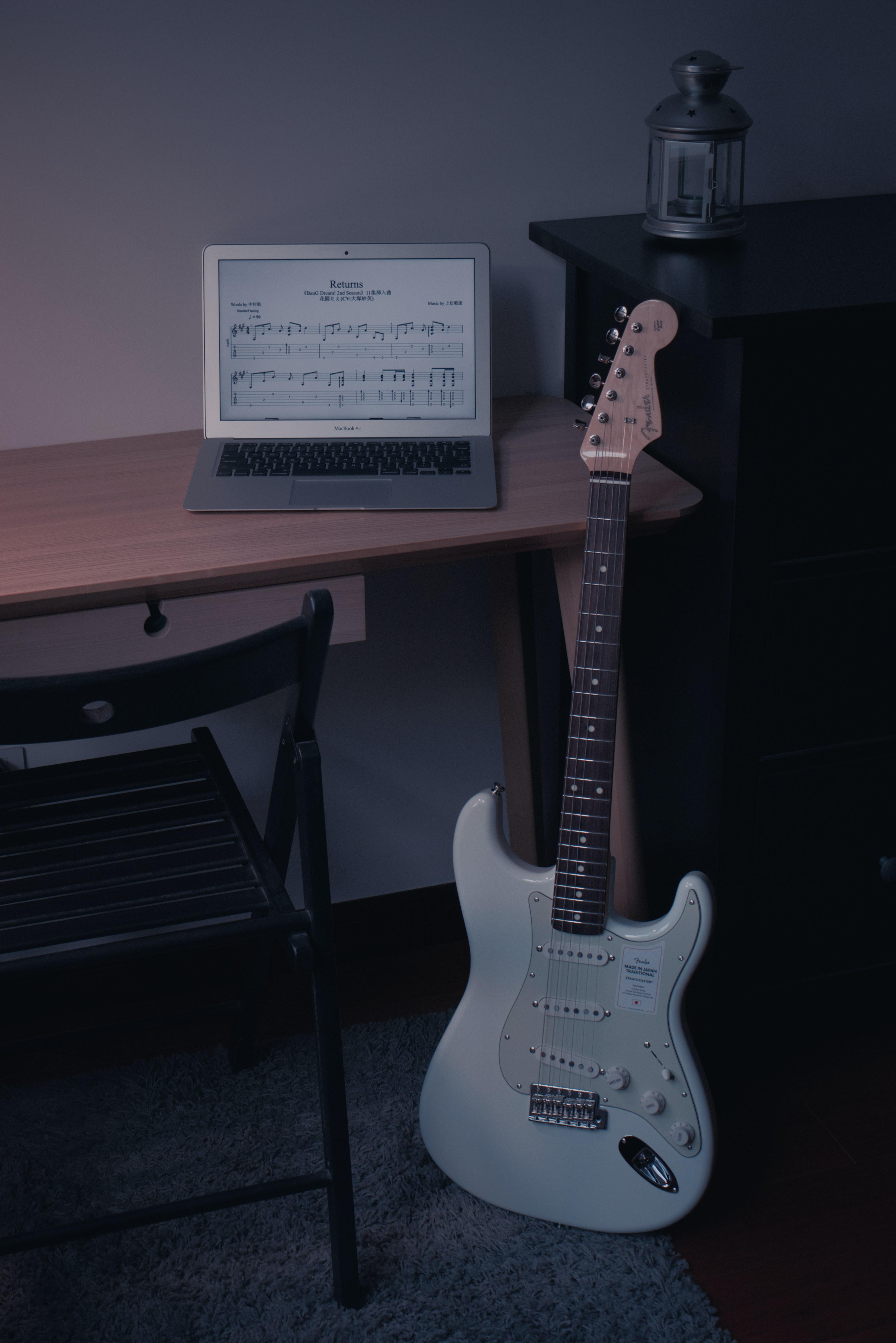 63688 Заставки и Обои Музыка на телефон. Скачать Музыка, Гитара, Музыкальный Инструмент, Ноутбук, Электрогитара картинки бесплатно
