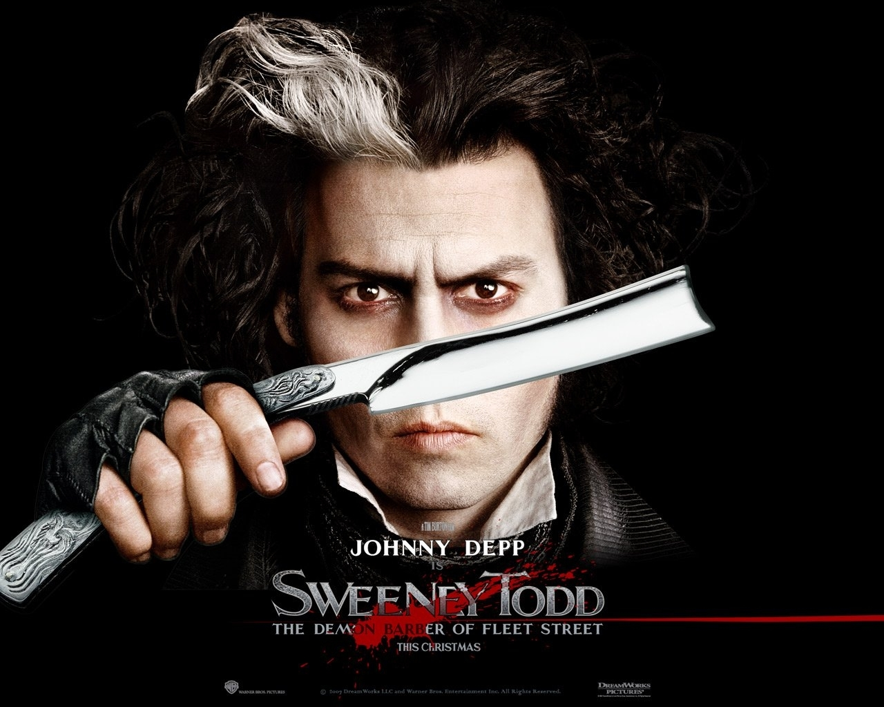 2544 скачать обои Кино, Люди, Актеры, Мужчины, Джонни Депп (Johnny Depp), Суини Тодд (Sweeney Todd) - заставки и картинки бесплатно