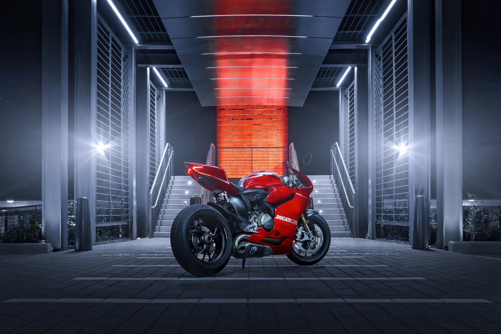 51078 Hintergrundbild herunterladen Ducati, Motorräder, Ducati 1199, Rückseite, Hinten, Joel Chan - Bildschirmschoner und Bilder kostenlos