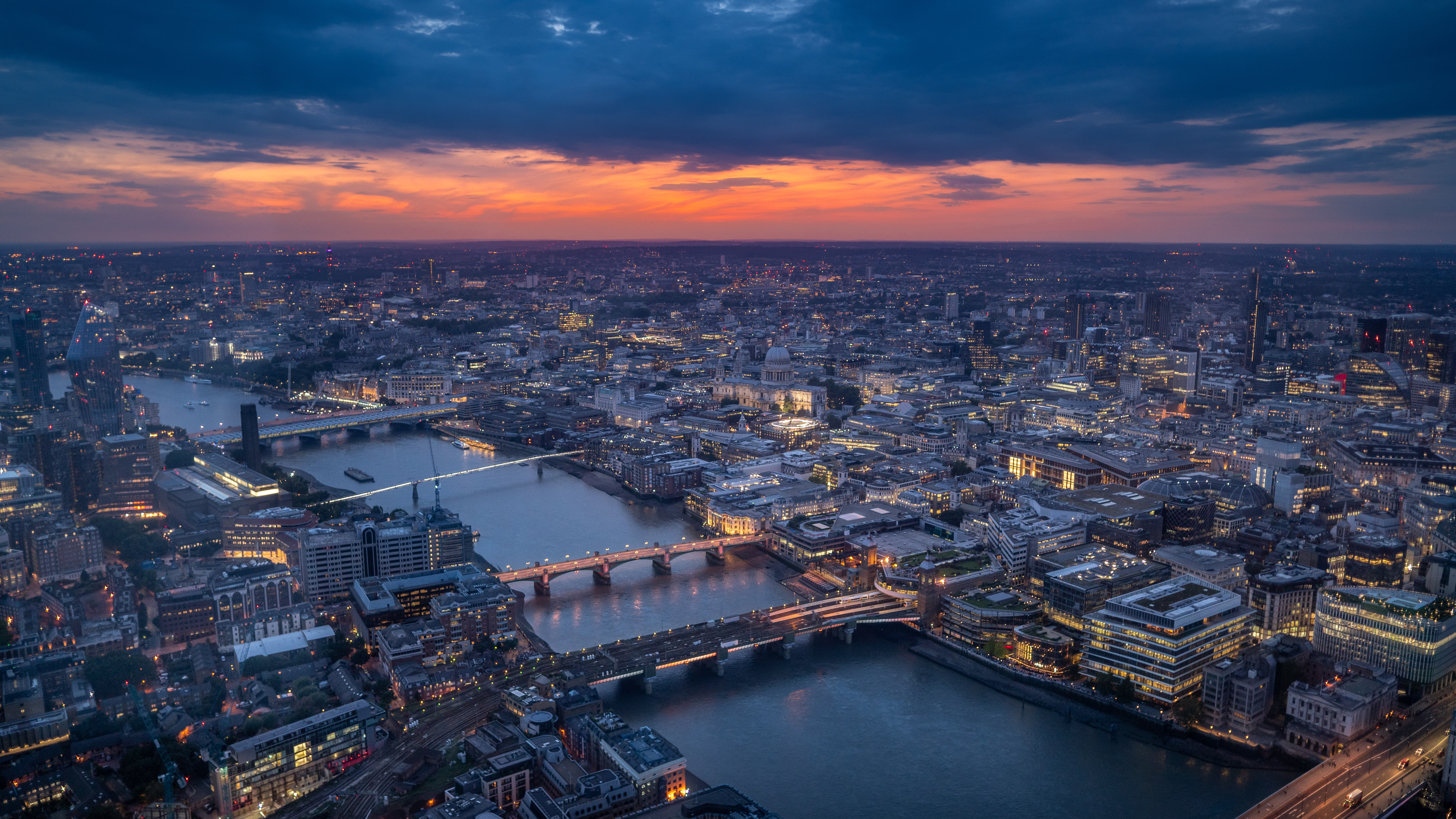 142720 Screensavers and Wallpapers London for phone. Download Cities, Architecture, London, Building, Night City, Bridge pictures for free