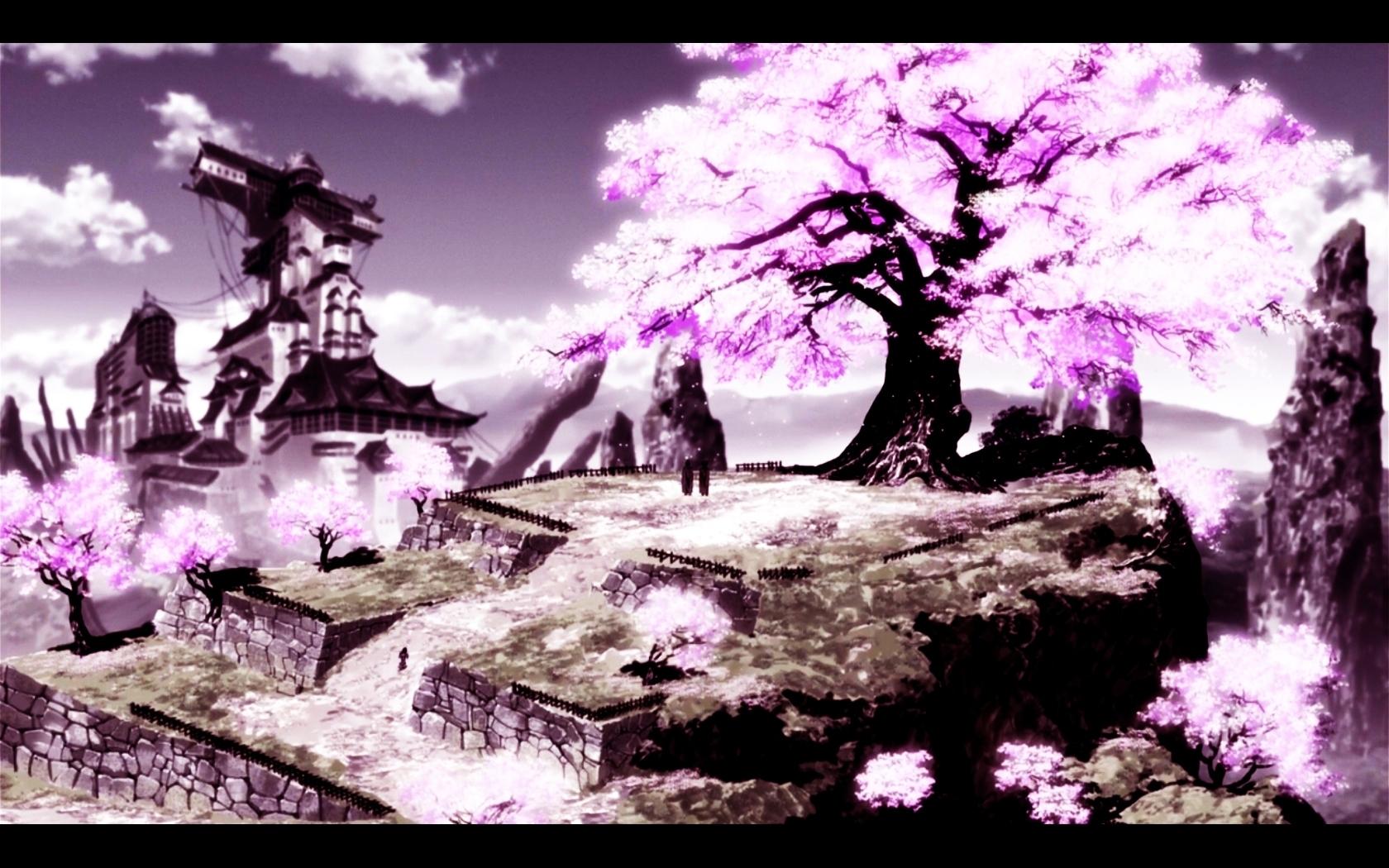 26042 descargar fondo de pantalla Anime, Paisaje, Árboles: protectores de pantalla e imágenes gratis