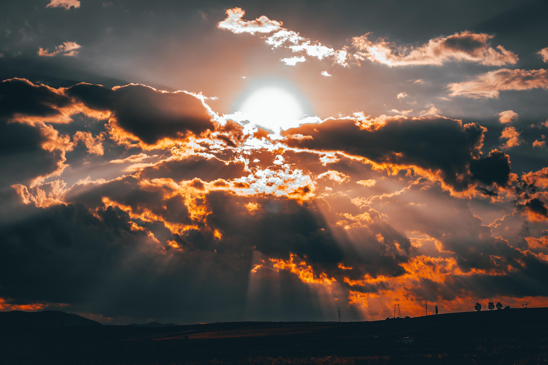 66917 Hintergrundbild 480x800 kostenlos auf deinem Handy, lade Bilder Natur, Sunset, Sun, Clouds, Hauptsächlich Bewölkt, Bedeckt 480x800 auf dein Handy herunter