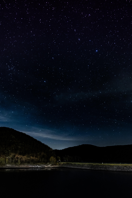 132622 Заставки и Обои Темные на телефон. Скачать Темные, Звездное Небо, Ночь, Деревья, Звезды, Германия, Айфель картинки бесплатно