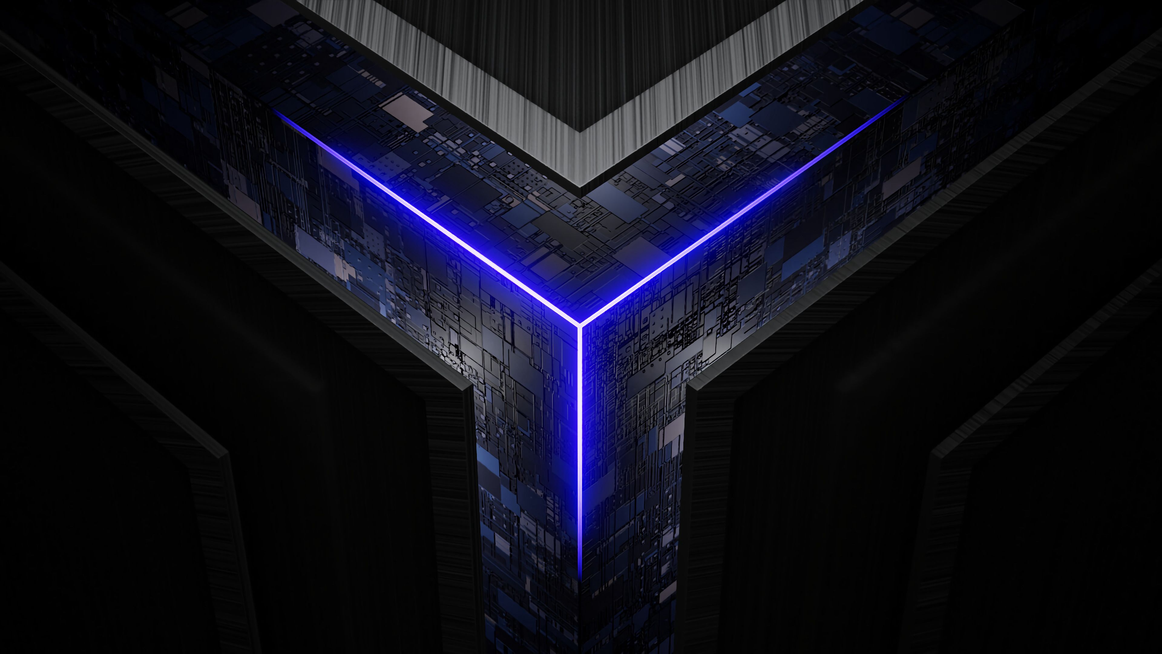 101725 download wallpaper 3D, Neon, Glow, Cube, Scheme, Chips screensavers and pictures for free