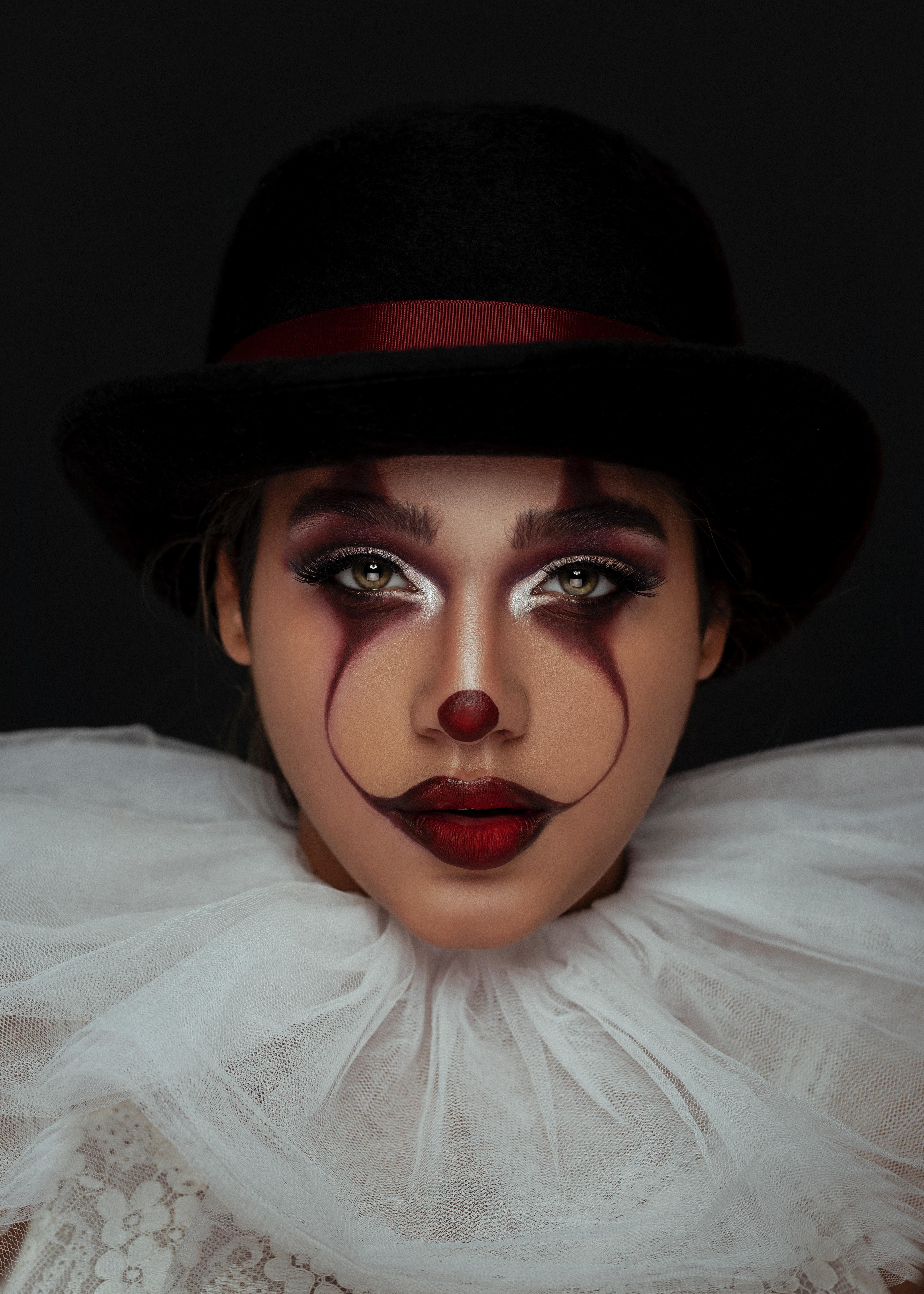 144491 免費下載壁紙 杂项, 女孩, 小丑, 脸, 脸部, 画, 油漆, 化妆品, 化妆 屏保和圖片
