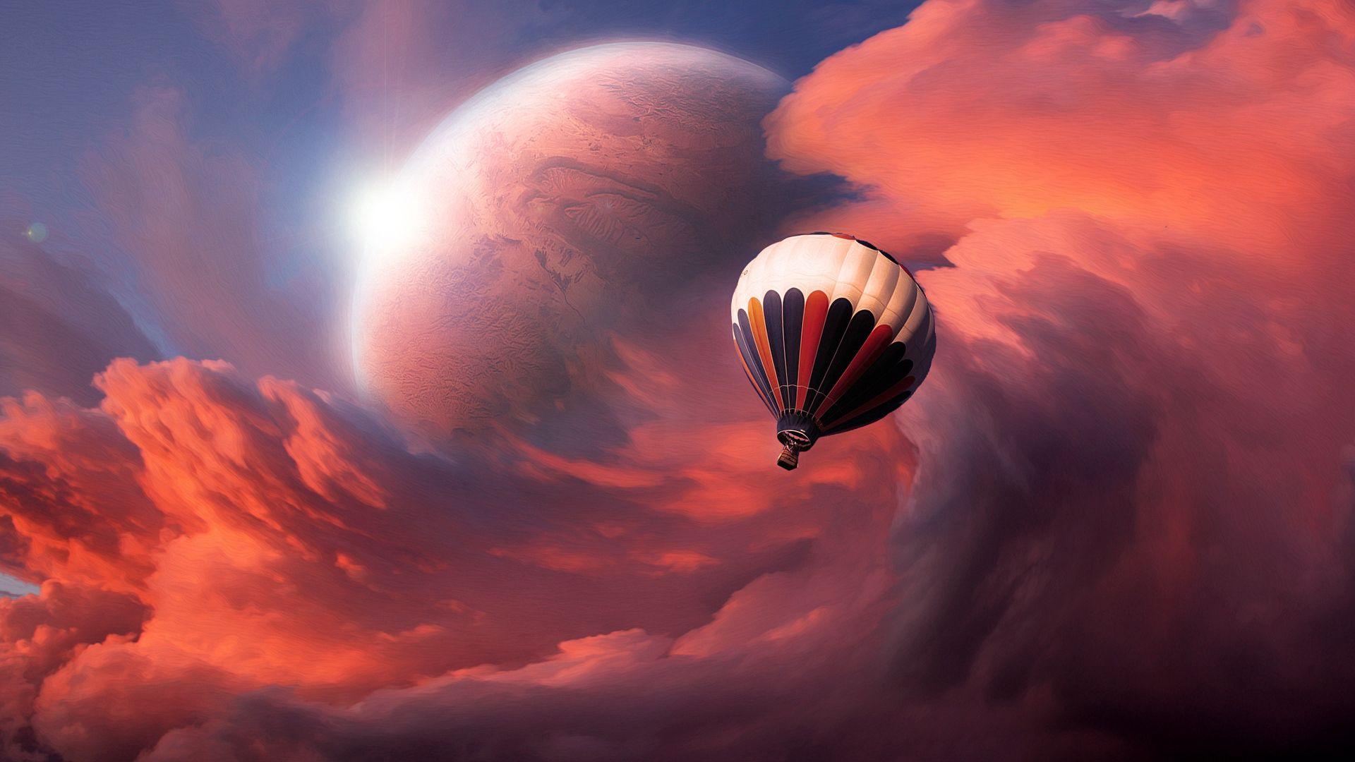 78517 Protetores de tela e papéis de parede Lua em seu telefone. Baixe Abstrato, Céu, Nuvens, Lua, Voar, Voo, Balão fotos gratuitamente