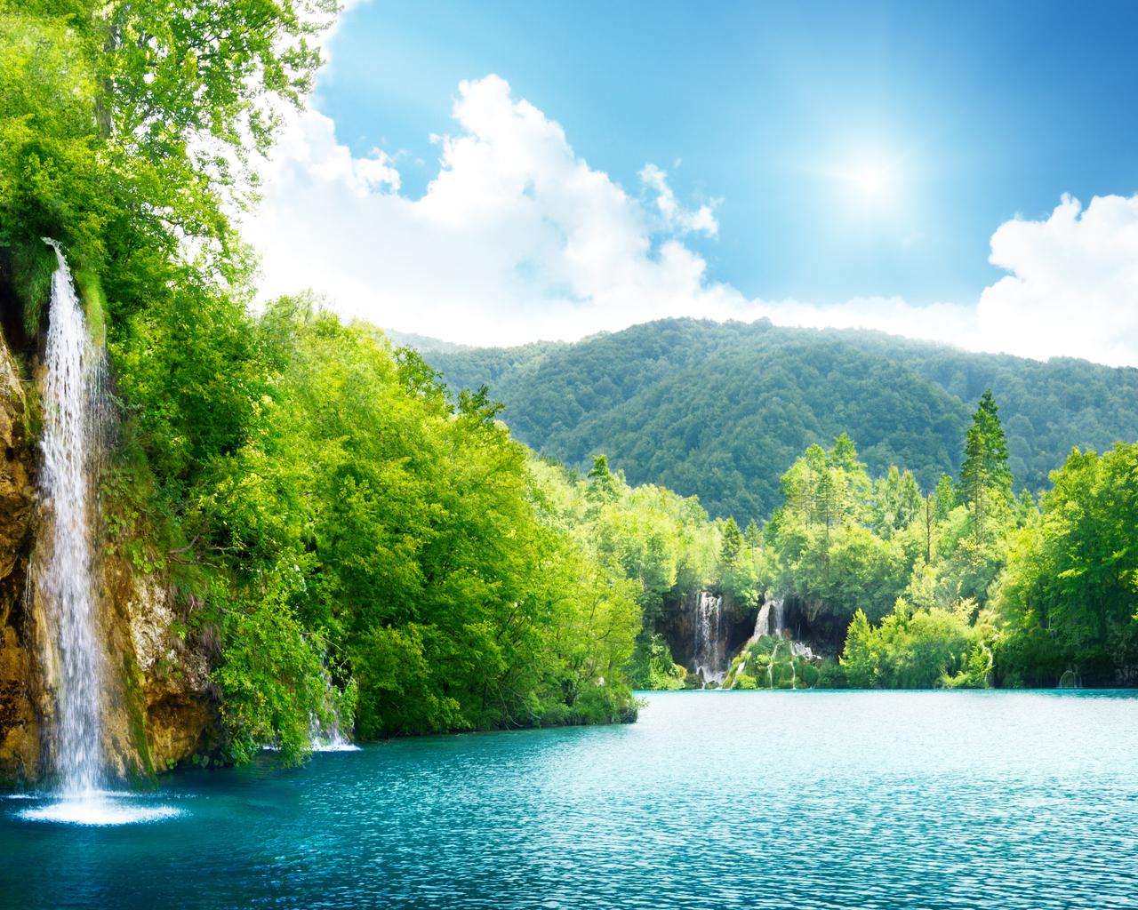 15506 Заставки и Обои Озера на телефон. Скачать Водопады, Озера, Пейзаж, Вода картинки бесплатно