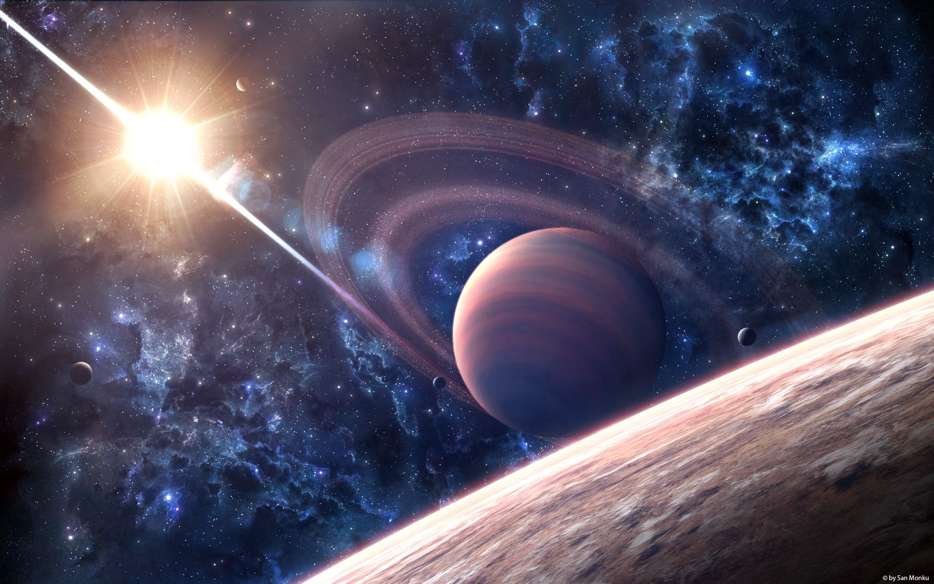 114893 download wallpaper Universe, Galaxy, Saturn, Planet screensavers and pictures for free
